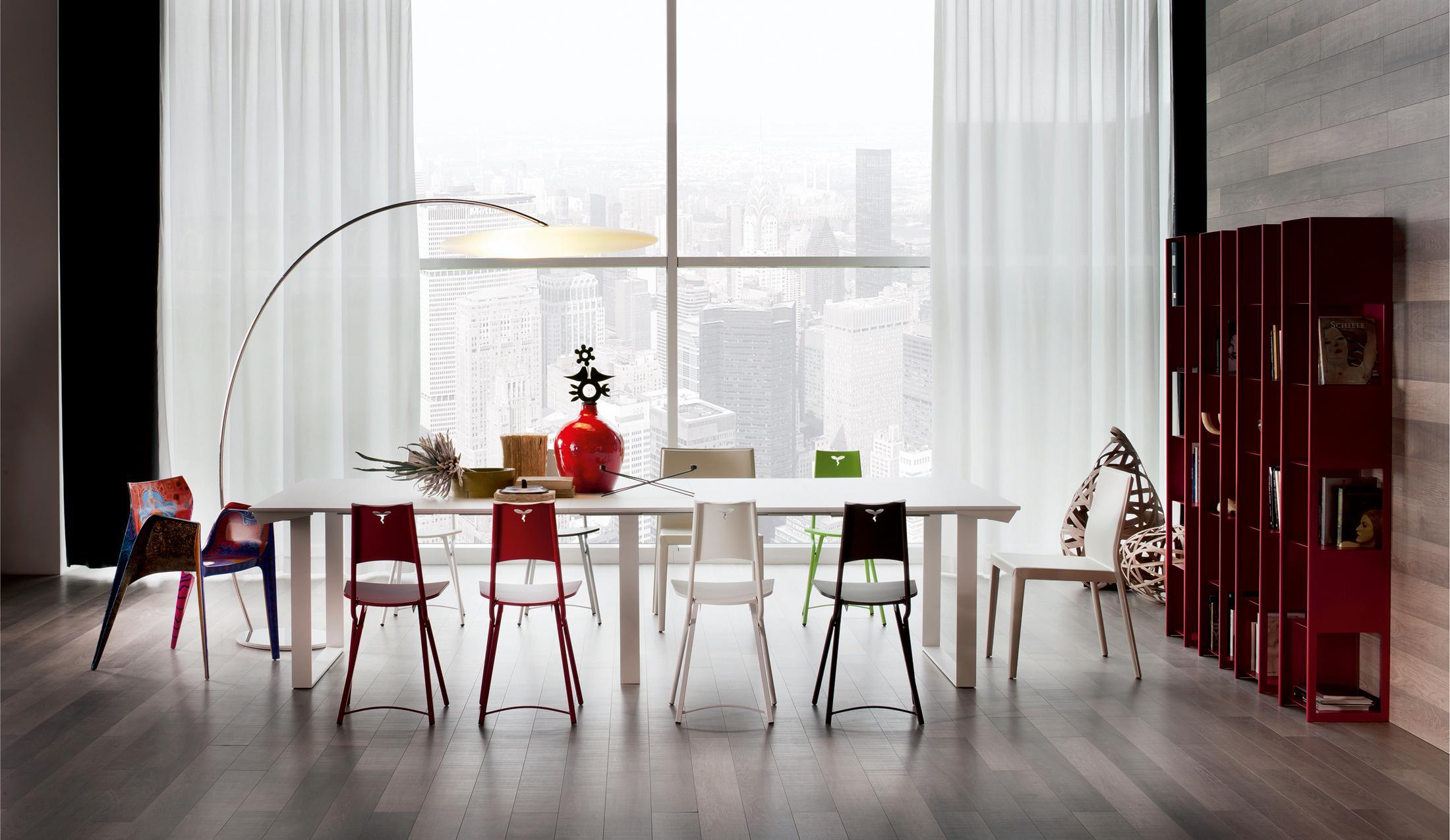 Schön Moderne Bogenleuchte #regal #esstisch #vorhang ©Cattelan Italia