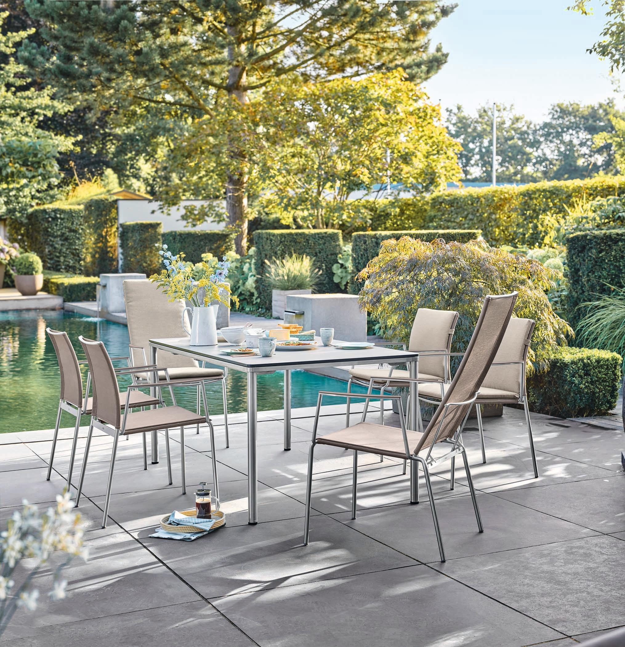Moderne Sitzgruppe Im Garten Stuhl Pool Gartenmob