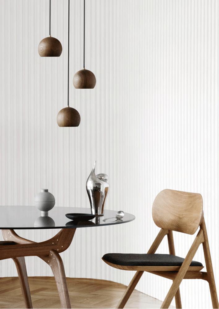moderner esstisch triiio aus holz und glas von brdr. Black Bedroom Furniture Sets. Home Design Ideas