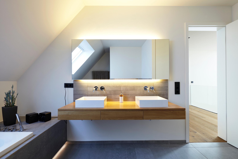 Modernes Bad #Badezimmer #Waschbecken ©Architekt: Fa