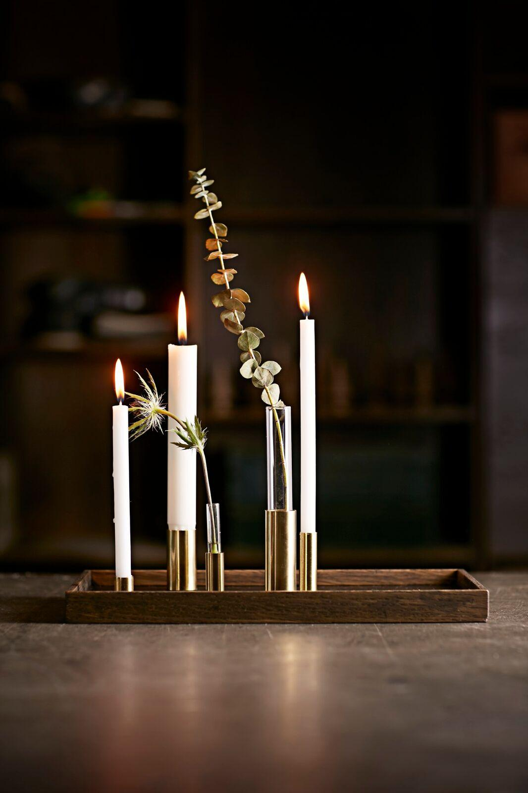 Modernes Kerzenhalter-Tablett CANDLE TRAY DE LUXE von The Oak Men #tablett #kerzenständer ©The Oak Men