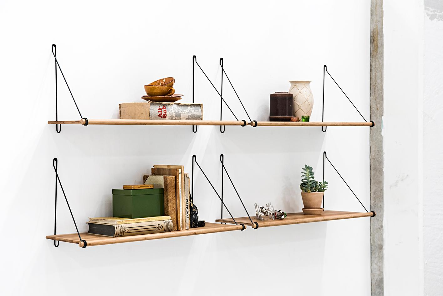 Modernes Wandregal LOOP SHELF von We Do Wood #bambus #wandregal #holzregal ©We Do Wood