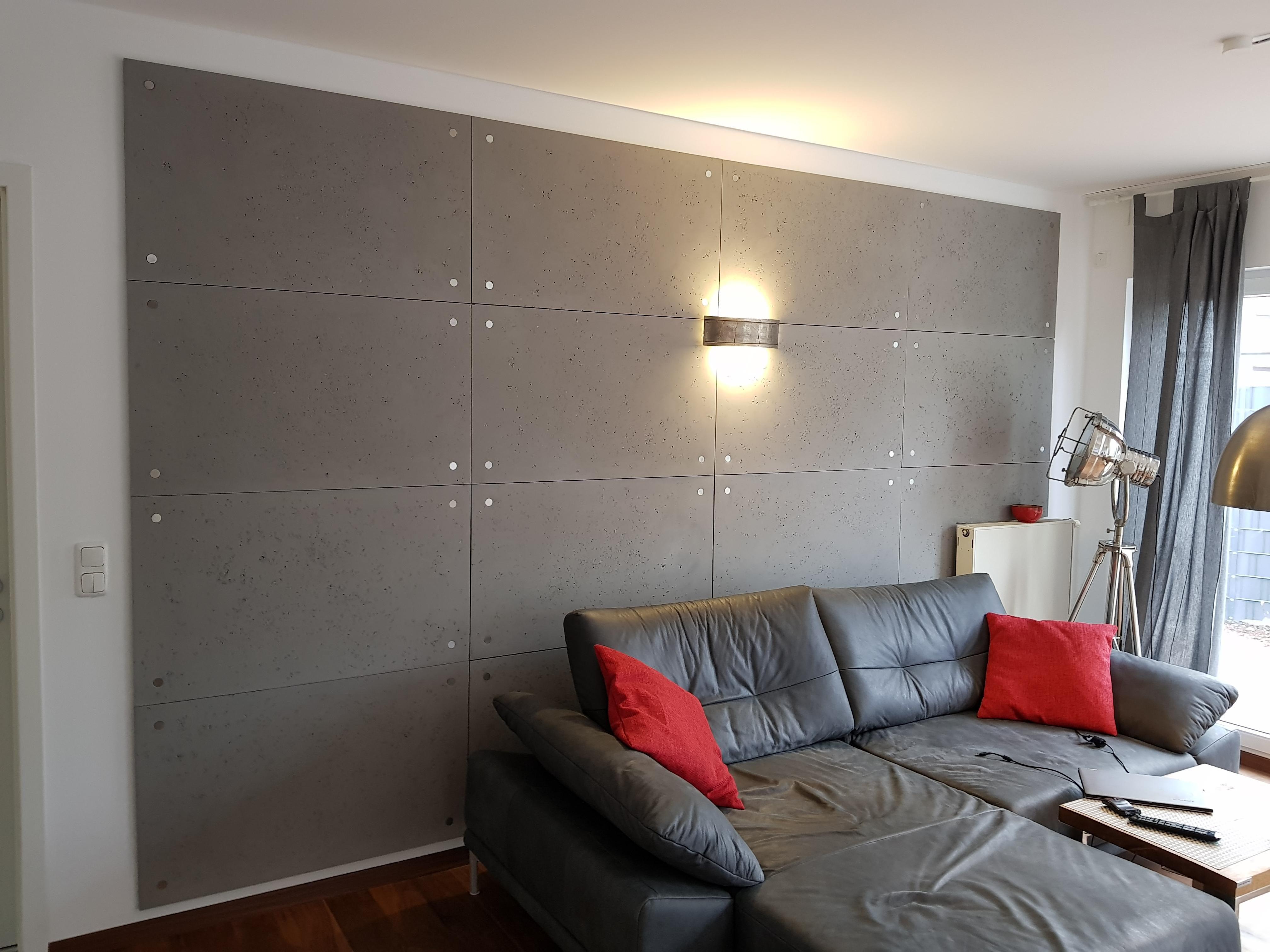 Modernes #Wohnzimmer #wandgestaltung In #betondesign