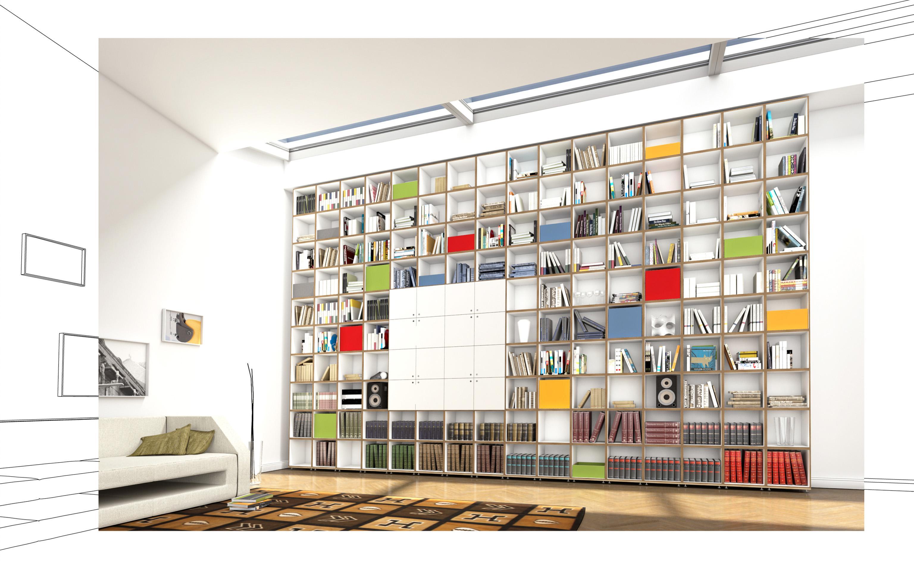 Schön Modulares Bücherregal #wandregal #bücherregal #regalsystem #wohnzimmerregal  ©stocubo GmbH