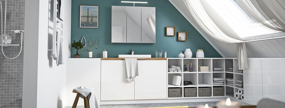 Möbel Nach Maß Für Das Badezimmer #badezimmer #badezimmerdachschräge  ©deinSchrank.de GmbH