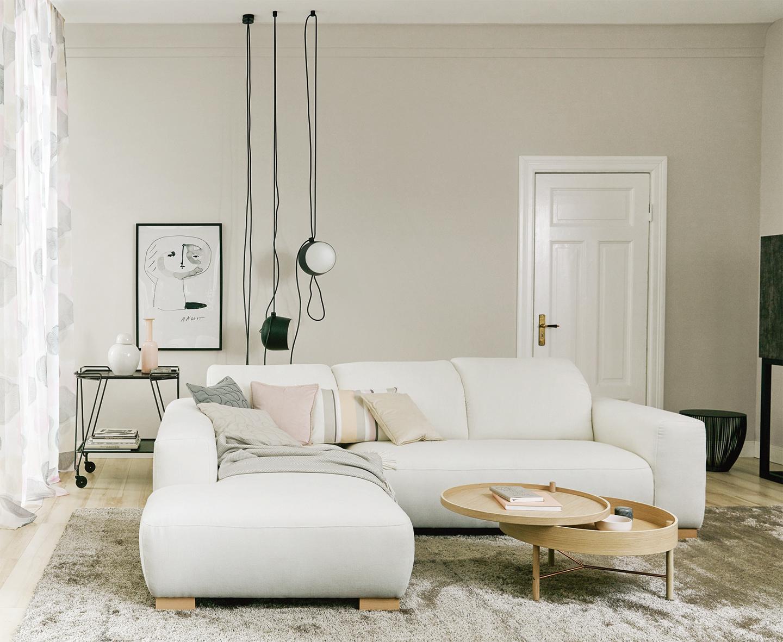 moon, schÖner wohnen-trendfarbe #beistelltisch #wand • couchstyle, Wohnzimmer
