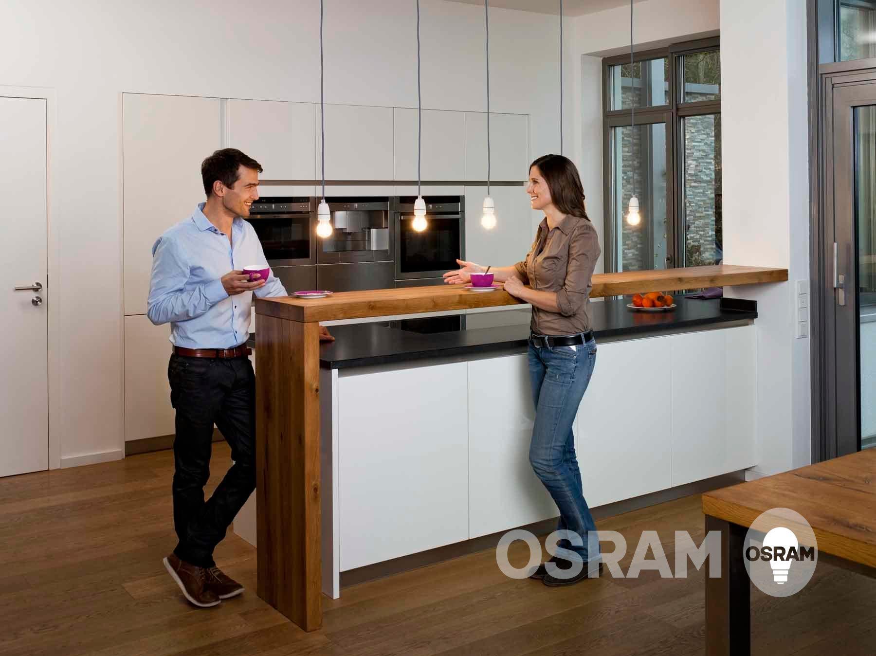Morgens   Kaffee Trinken In Der Küche #küche #beleuchtung  #küchenbeleuchtung ©OSRAM