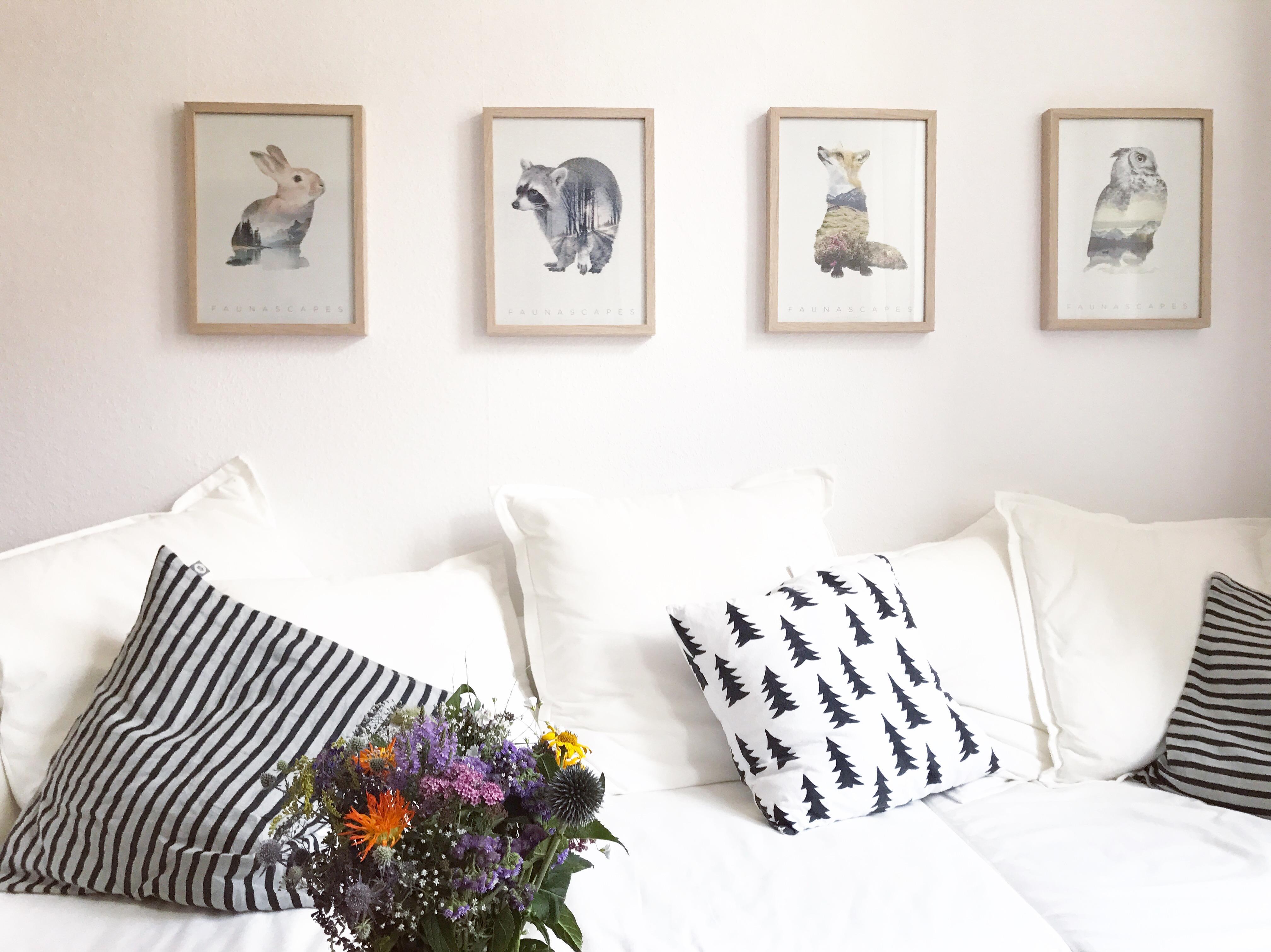 natur im wohnzimmer faunascapes bilder flowerpower blumen couchstyle wohnzimmer