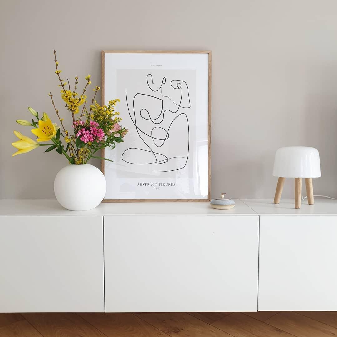 Wandfarbe Dunkelblau: Neue Wandfarbe Von #farrowandball Im Wohnzimmer. Vor