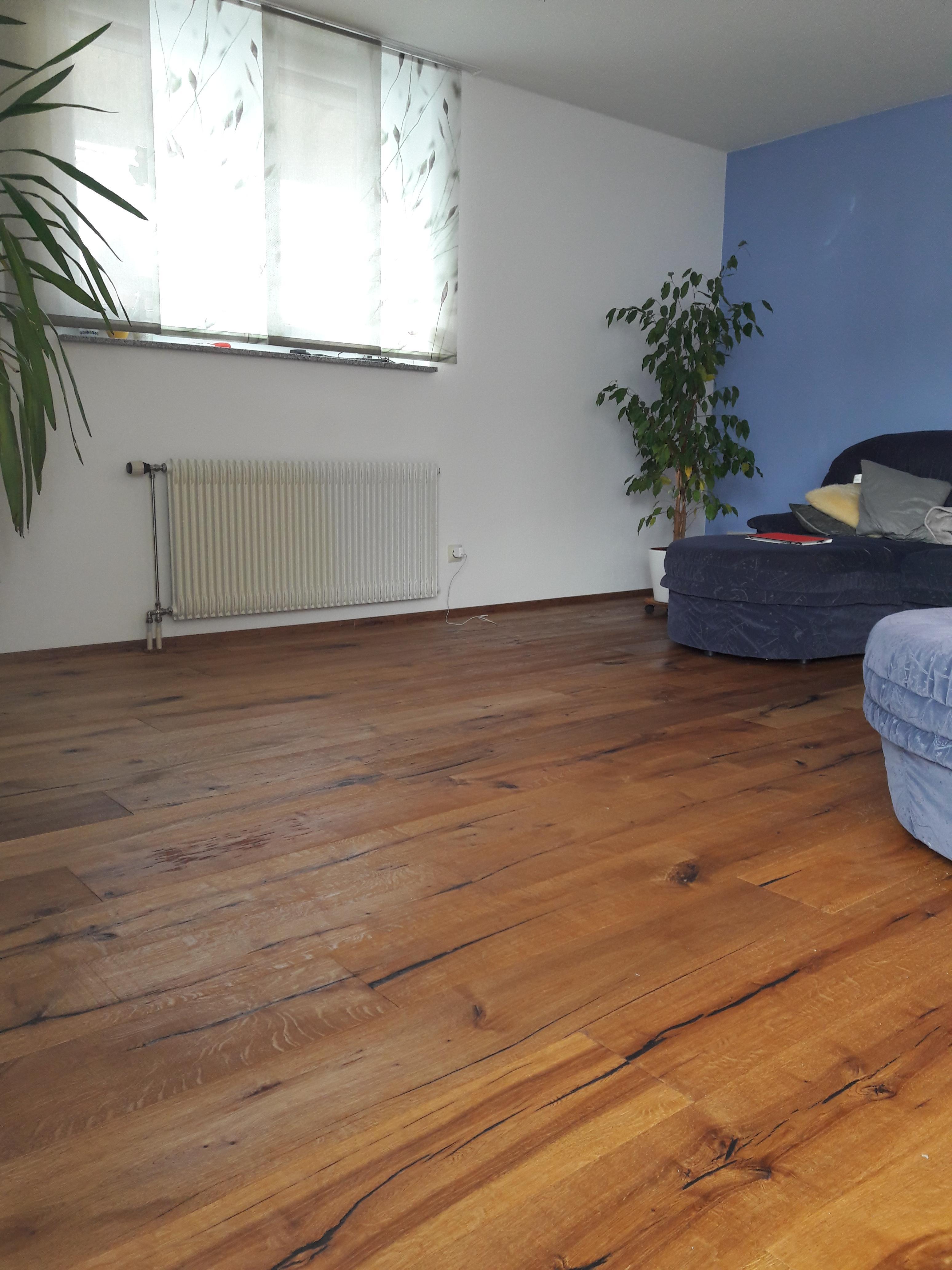Neuer Boden Im Wohnzimmer Eiche Echtholz Couch