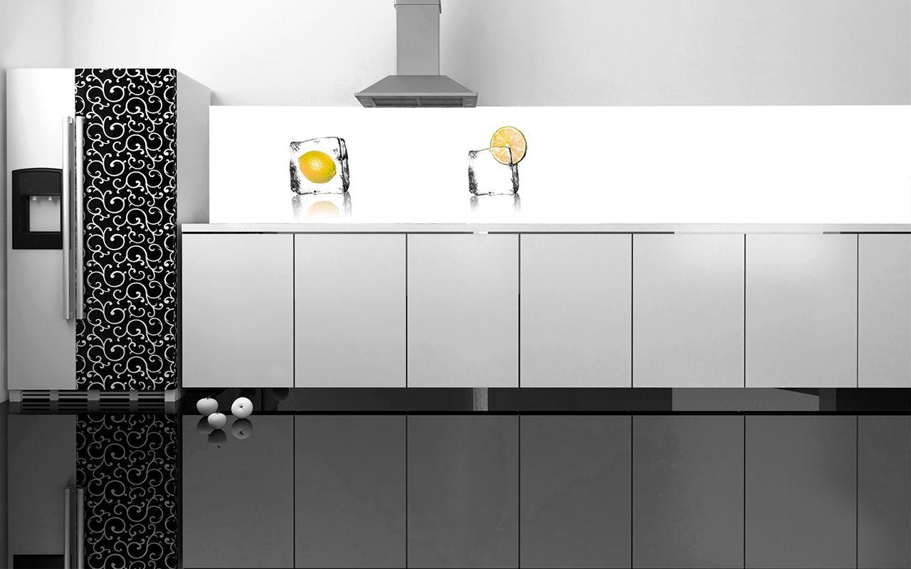 Nischenrückwand Aus Glas Digitaldruck #küchenrückwand ©HWD GmbH