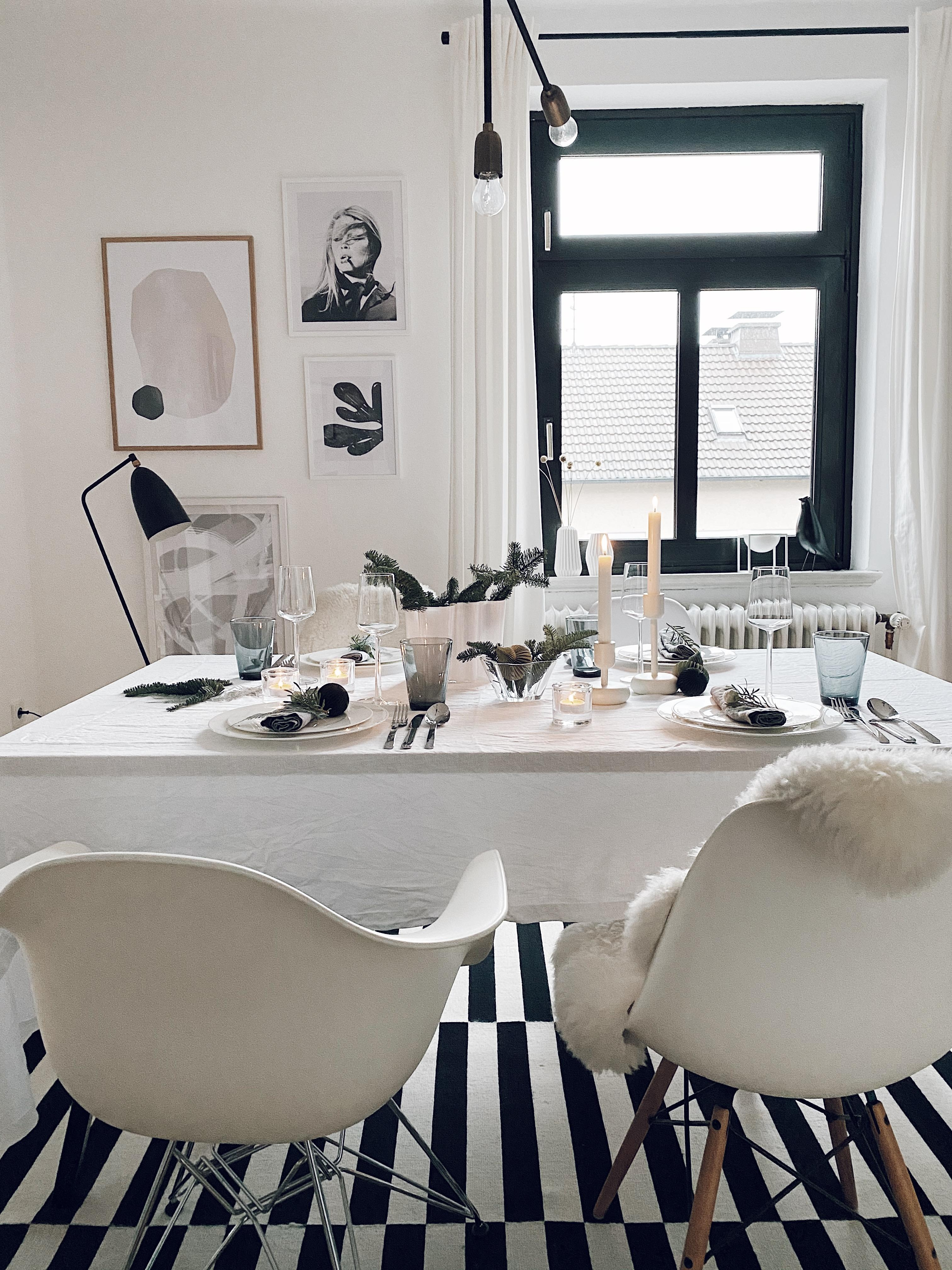 Nordic Christmas #diningroom #whitechristmas #christmasdecoration