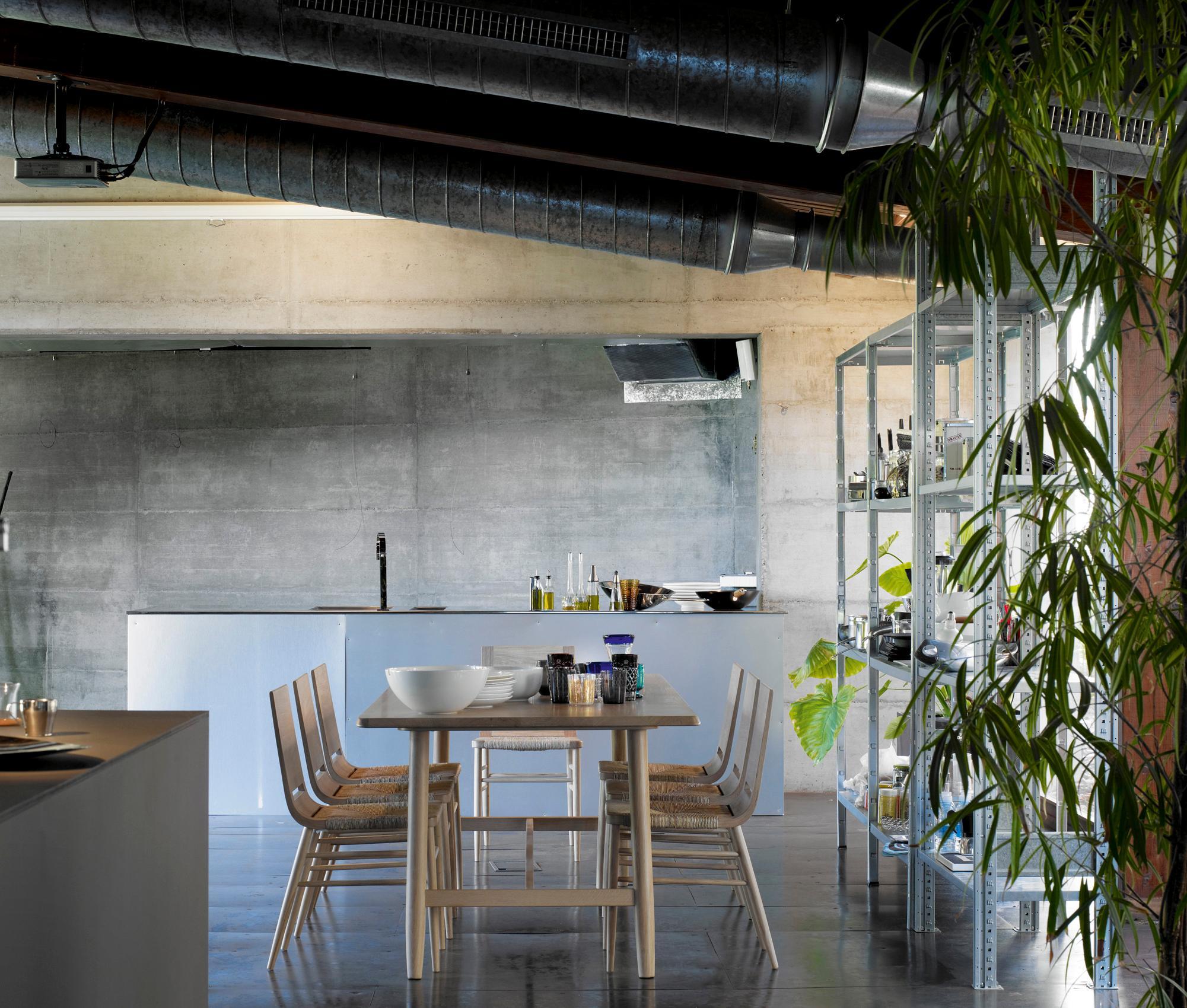 Küche Industrielook offene küche im industrie look küche metallregal