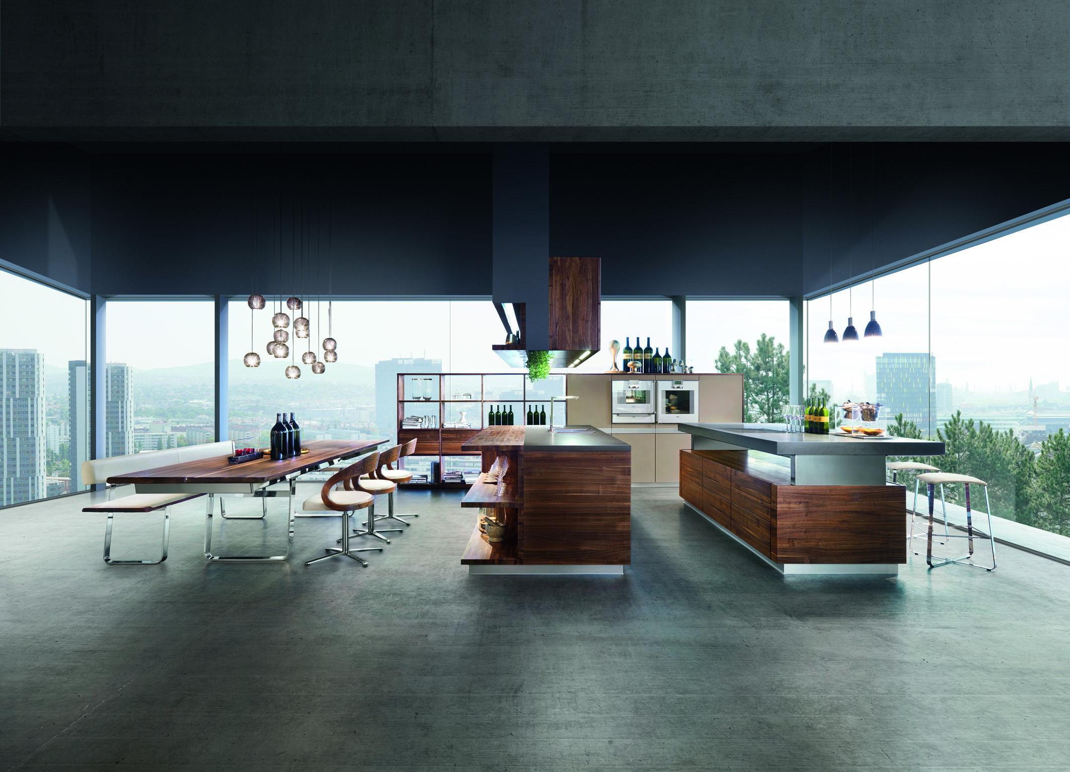 Küche Architektur open space architektur mit team 7 möbeln küche tea