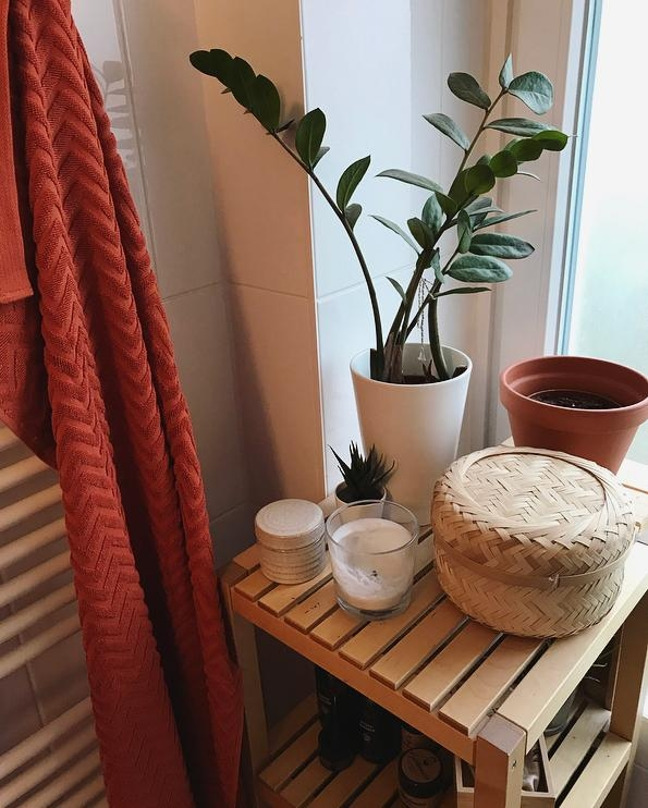orange is the new black. #bathroom #orange #boho #holz
