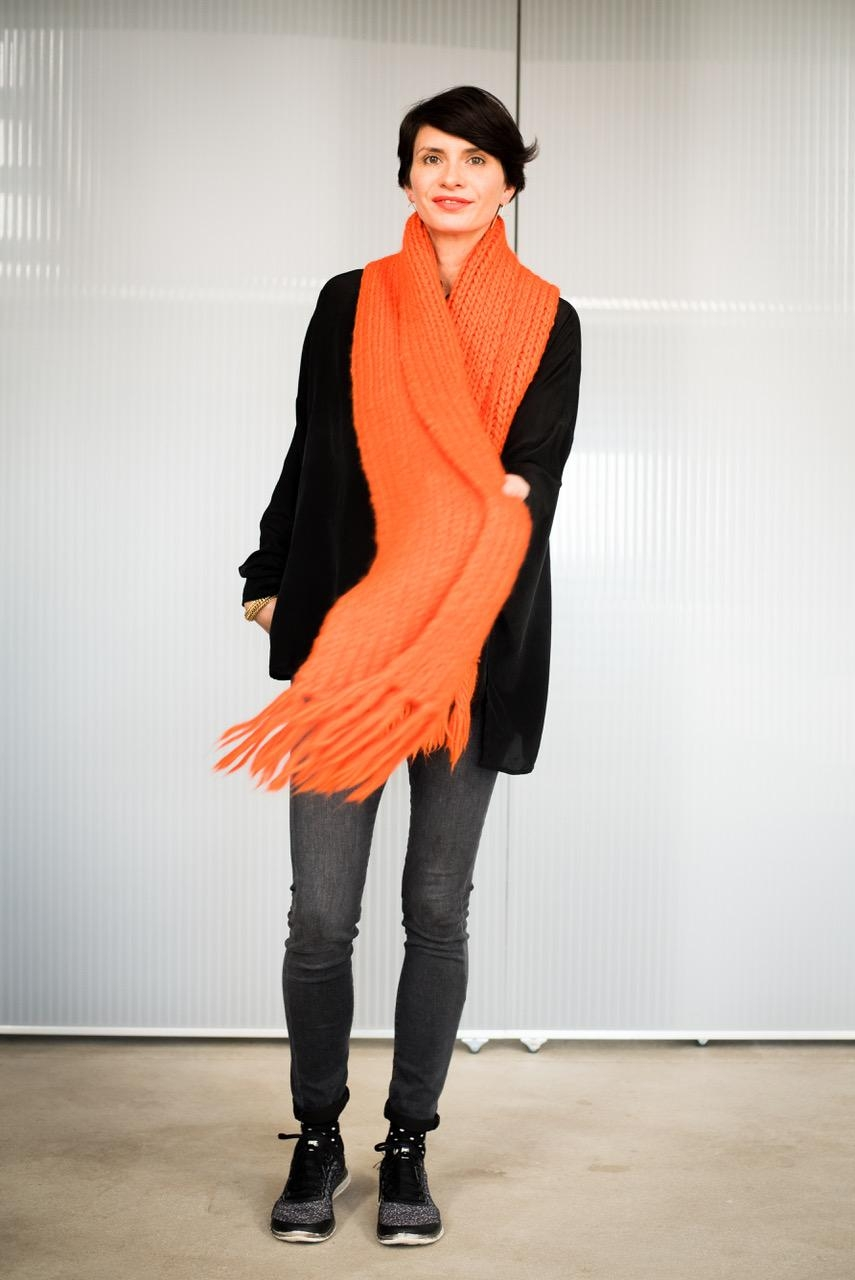 orange love #me #mystyle #oversized #scarf #ootd