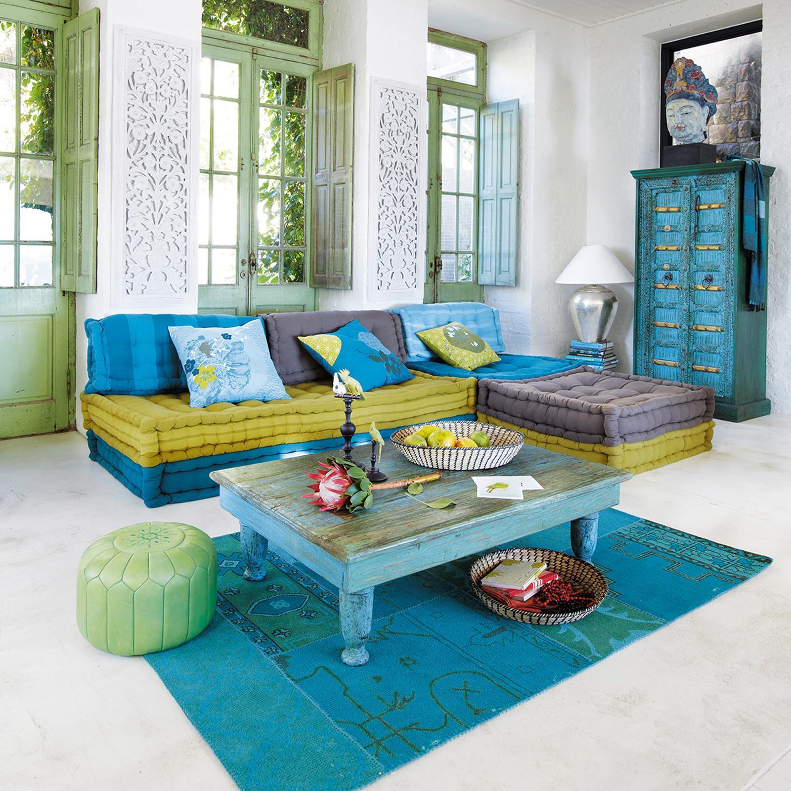 Orientalische Einrichtung Im Wohnzimmer #couchtisch #orientalisch ©Maisons  Du Monde
