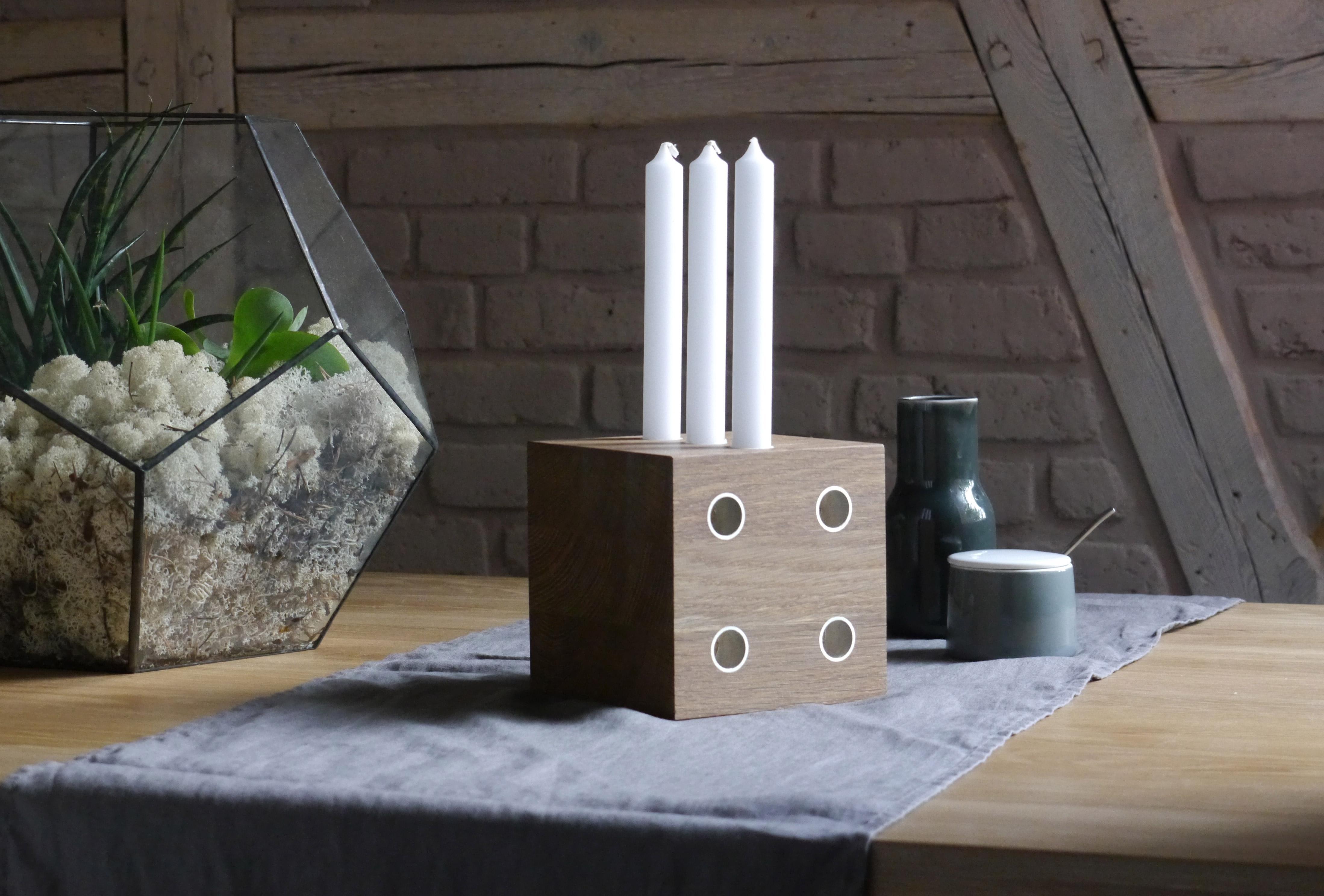 Origineller Kerzenhalter Aus Holz Wohnzimmer Origi