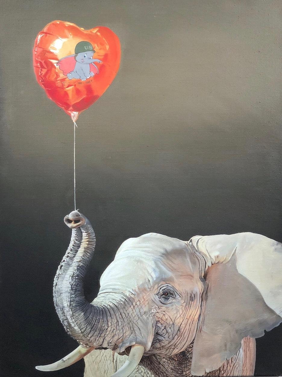 Painting by my fiancée Simon Czapla called Icon [80x60 cm, oil] 🙂🐘 #kunst #art #berlin #painting #malerei #work #design