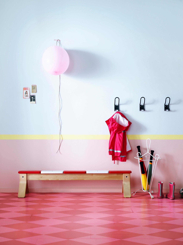 Pinkfarbener muster boden wandfarbe ikea garderob - Wandfarbe ikea ...