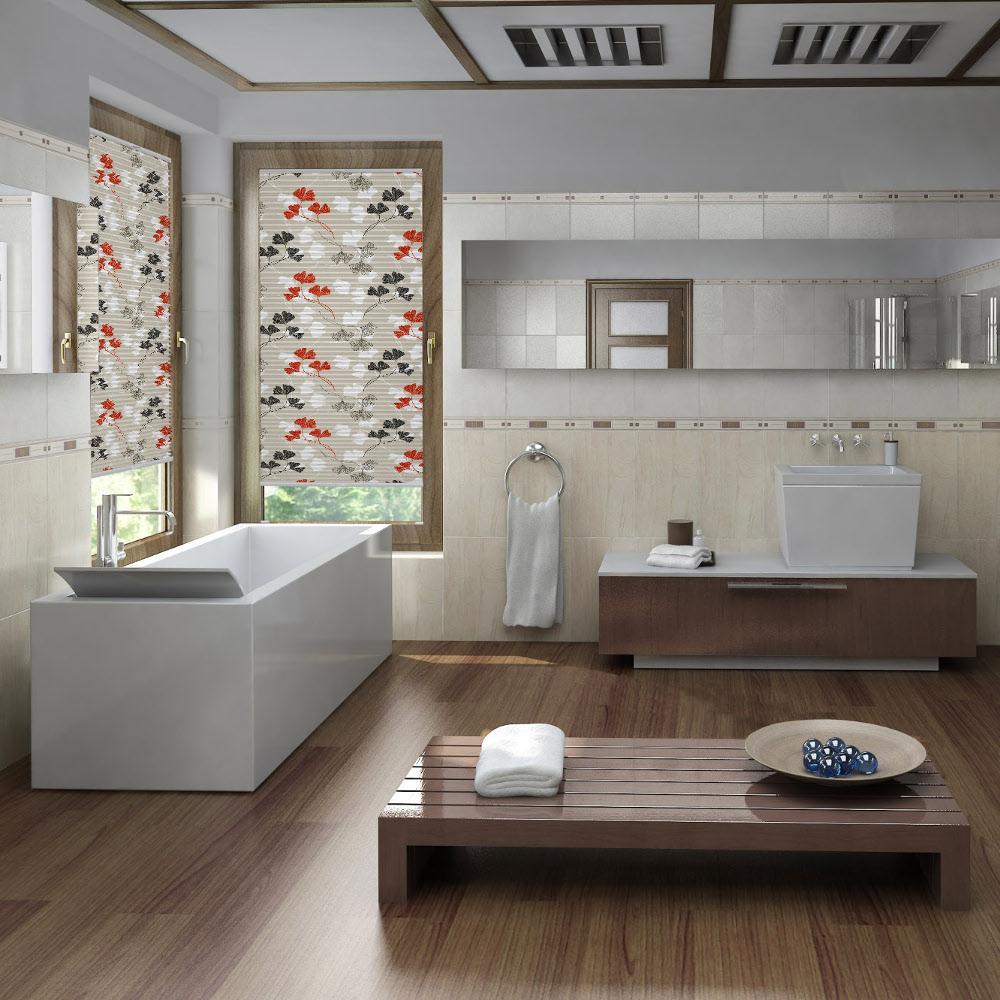 Plissee Sichtschutz Im Badezimmer Badezimmer Sicht