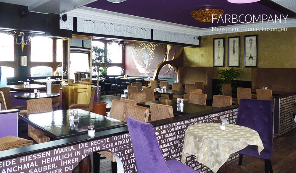 Raumkonzept/ Farbgestaltung Eines Restaurants In Hildesheim #wandgestaltung  #wandtattoo #raumgestaltung #raumkonzept ©