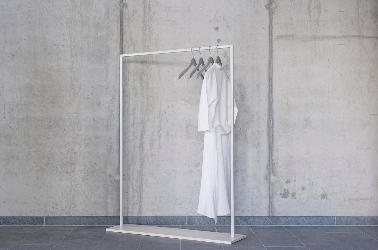 Reduced to the #essentials, HANGON offers a stable place to store your #clothes while impressing with its design.