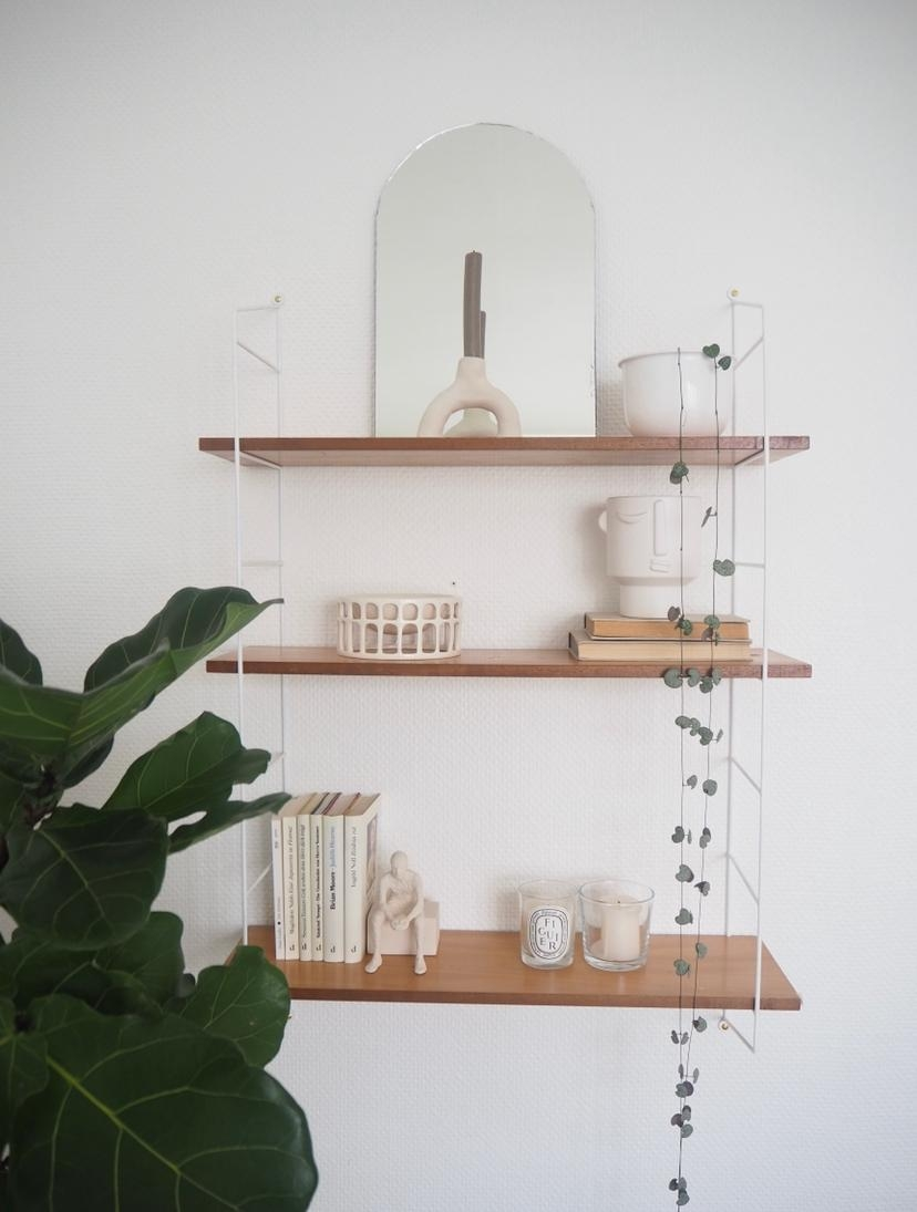 Regal neu dekoriert #shelfdecor #stringshelf #stringfurniture #kerzen #dekoideen #natural