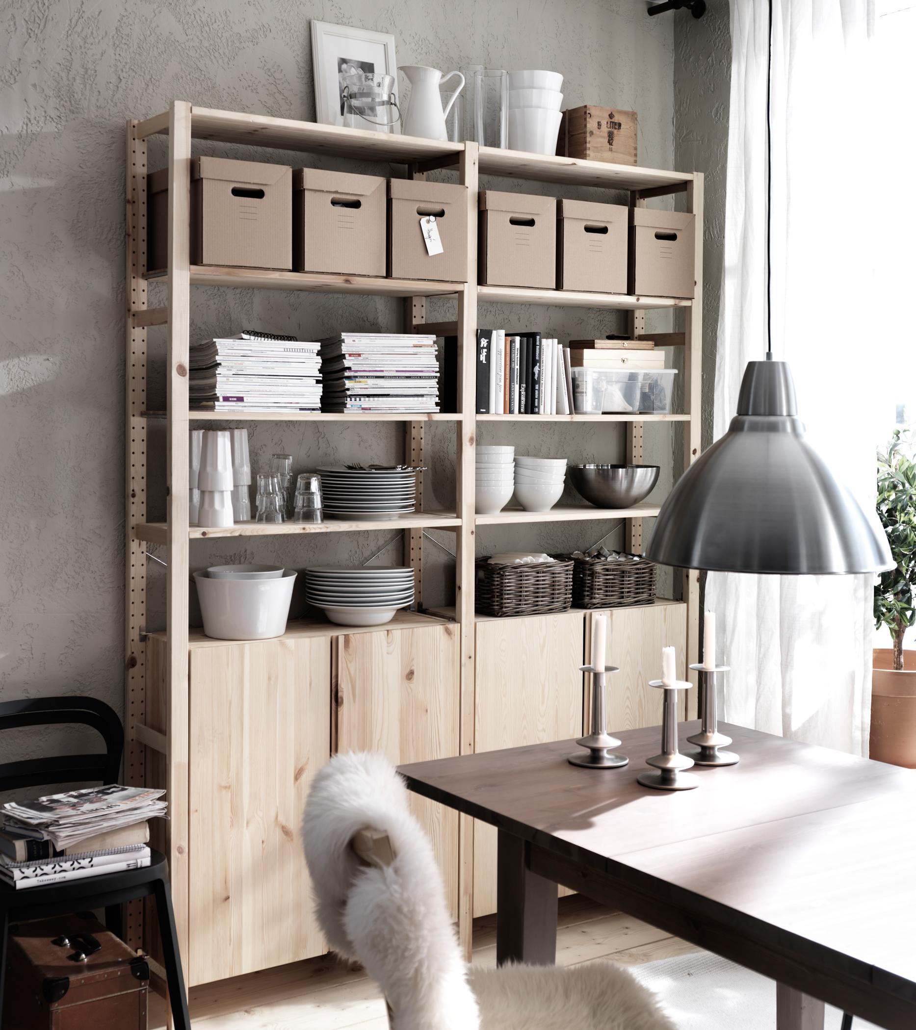 Billy regal dekorieren moderne wohnzimmer mit bibliothek for Billy regal ideen