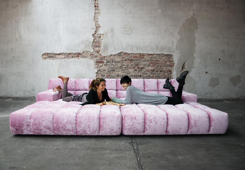 rosa sofa ocean7 eyecatcher bretz wohntr ume gmb. Black Bedroom Furniture Sets. Home Design Ideas