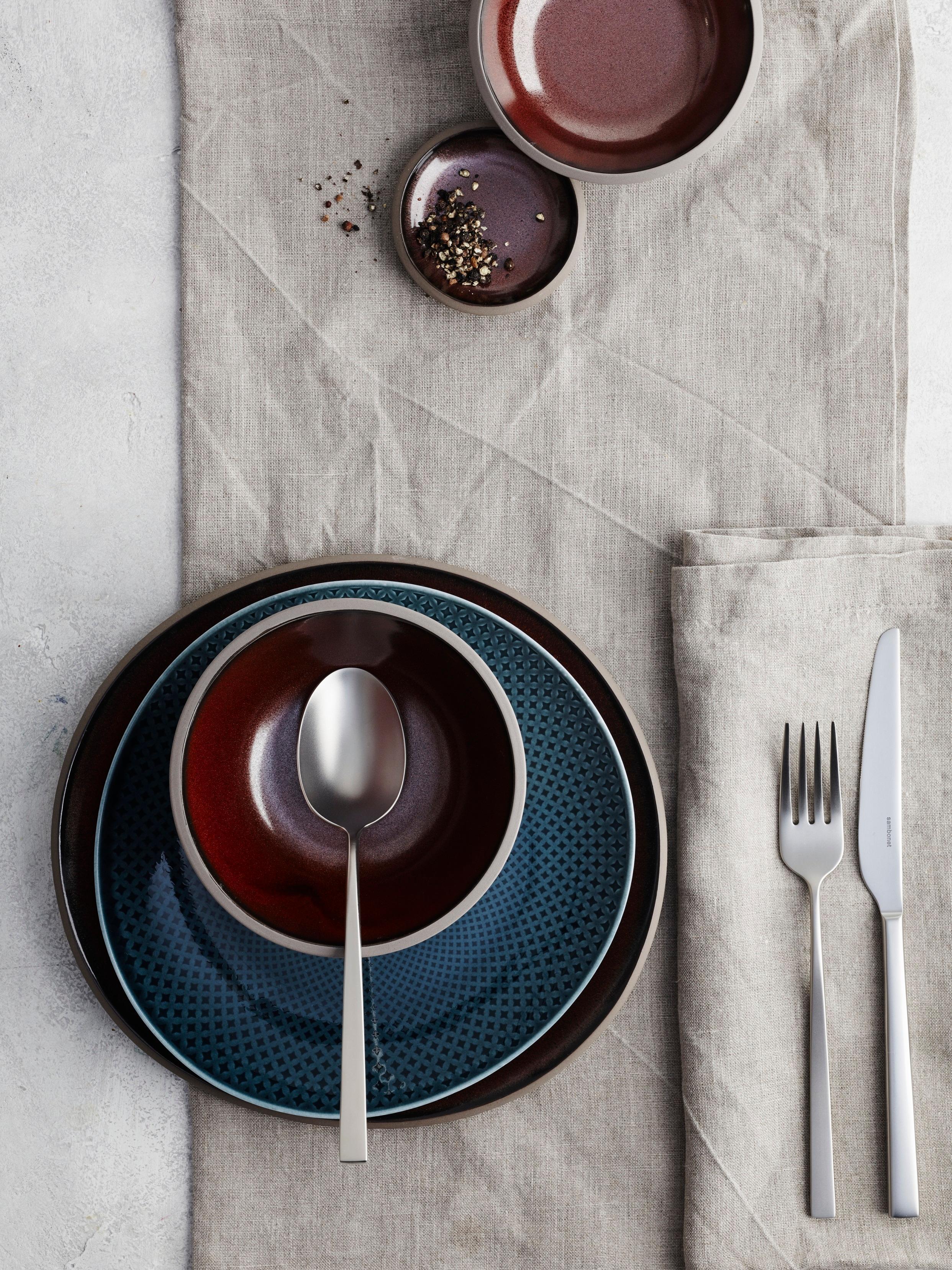 Steinzeug Geschirr rosenthal junto porzellan in blue und steinz