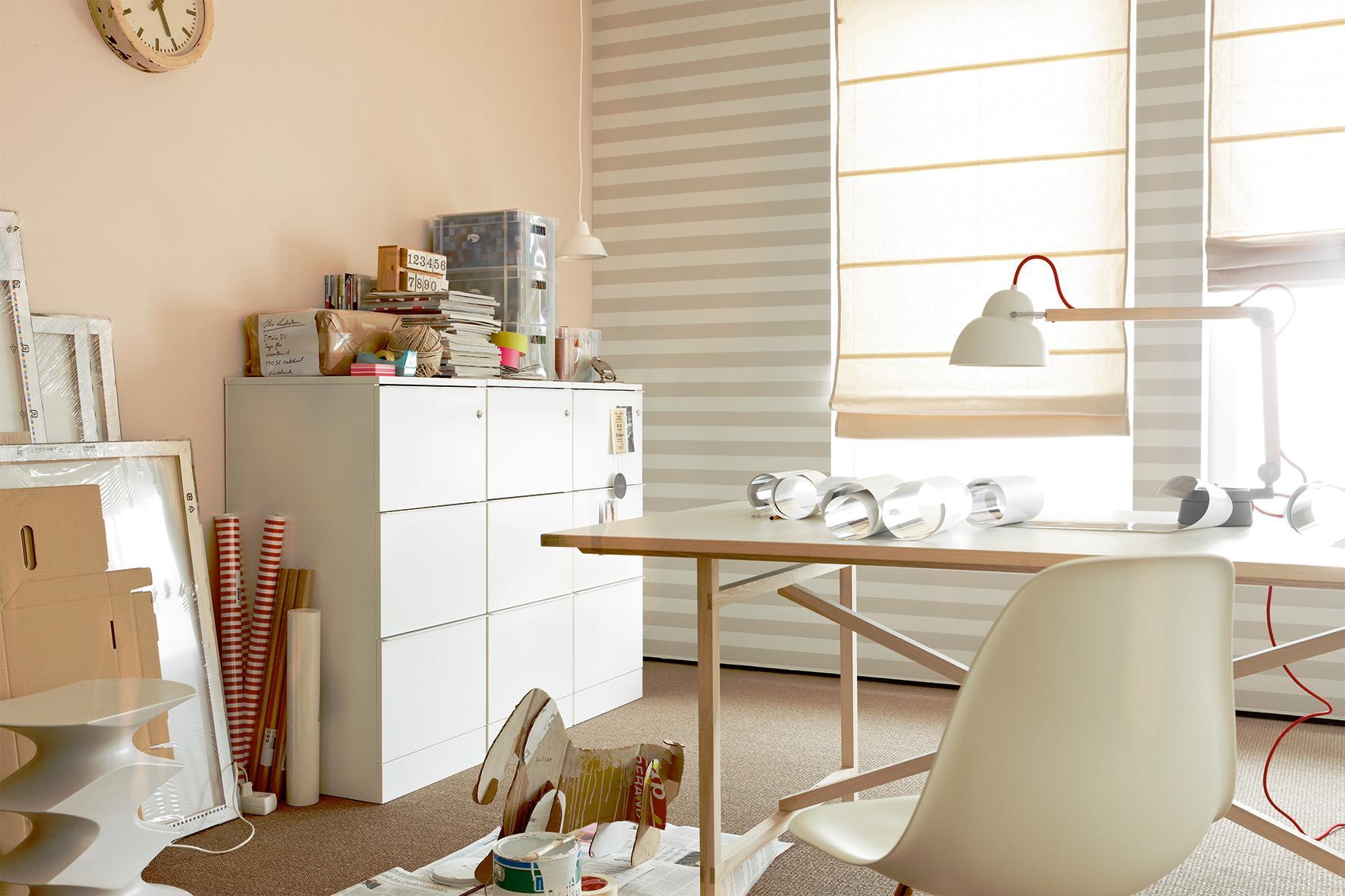 Sand, SCHÖNER WOHNEN Trendfarbe #stuhl #büro #wandfarbe #schreibtisch  #arbeitszimmer