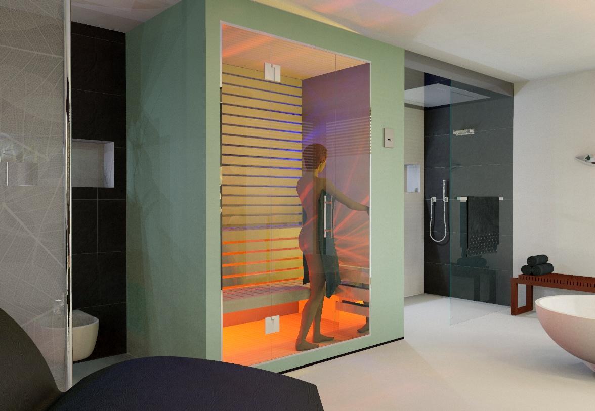 Saunaplanung Mit Licht #sauna #badsauna ©my Lovely BATH Planer