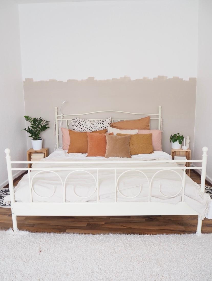 Schlafen Schlafzimmer Kissen Leinen Kord Samt