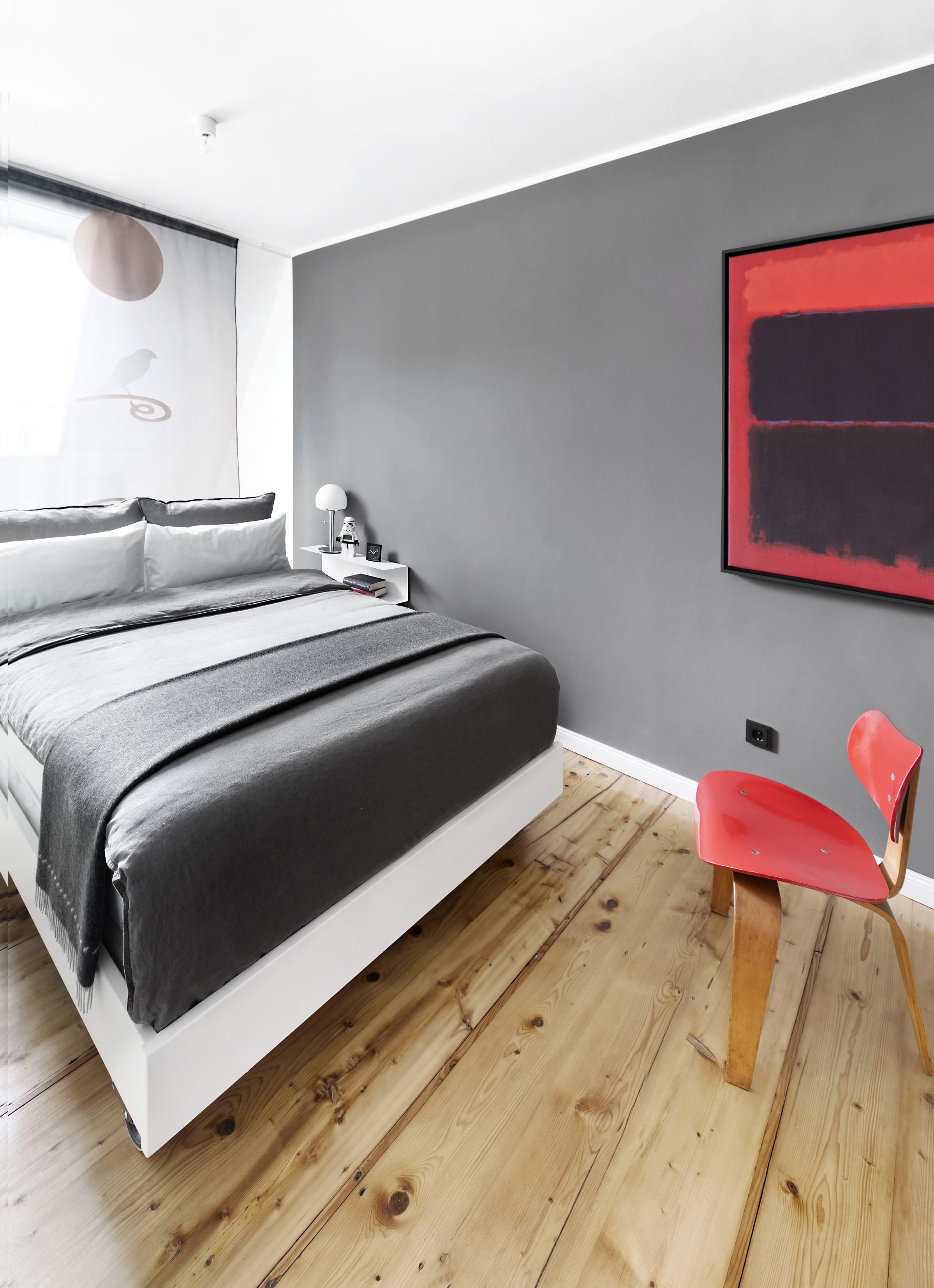 Schlafzimmer #bett #altbau ©Fotografie: Volkan Tural / Copyright: Pascal  Walter
