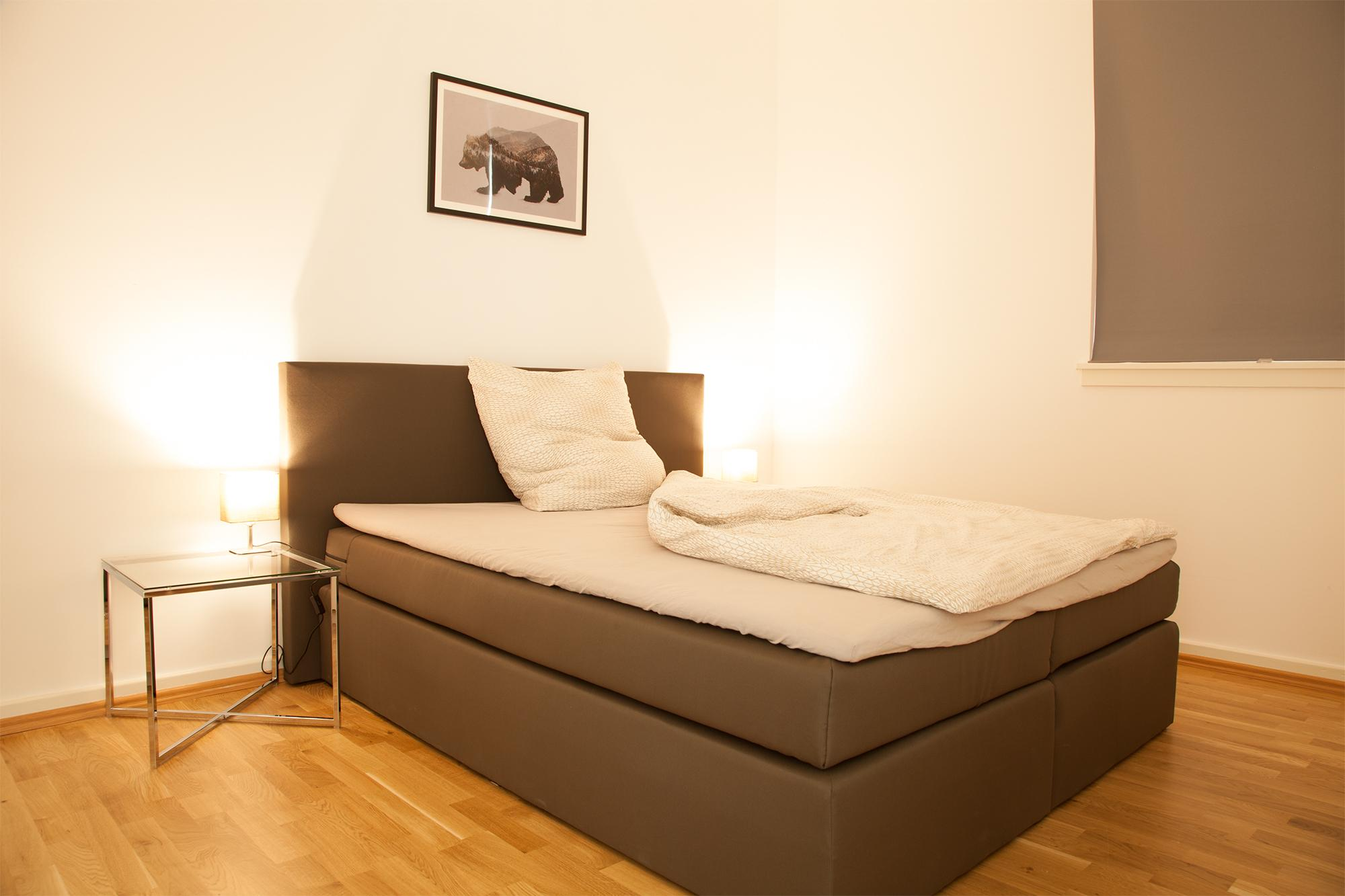 Schlafzimmer des Appartments #bett ©Roomhero
