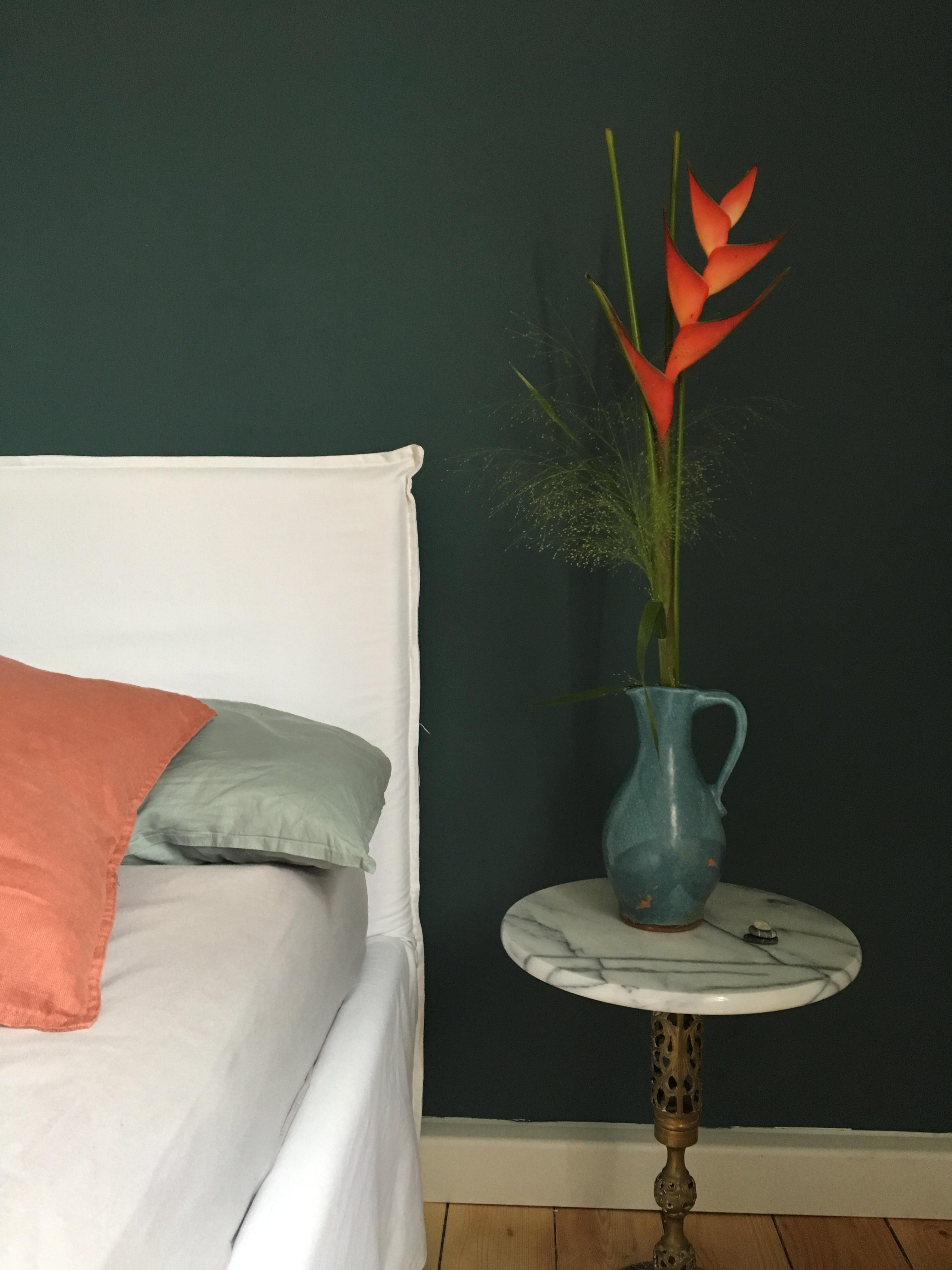 Schlafzimmer Grun Blumen Deko Inspo Vintage M
