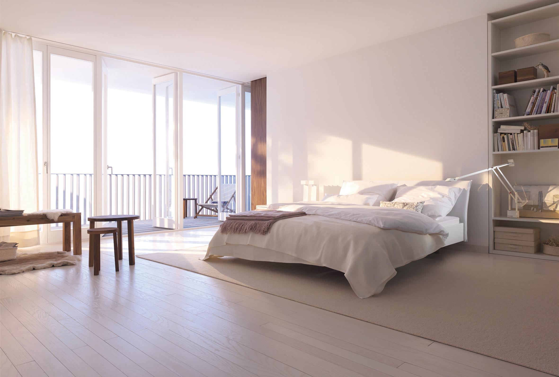 Schlafzimmer In Cremefarben Einrichten #boxspringbett #cremefarben # Zimmergestaltung ©Interlübke