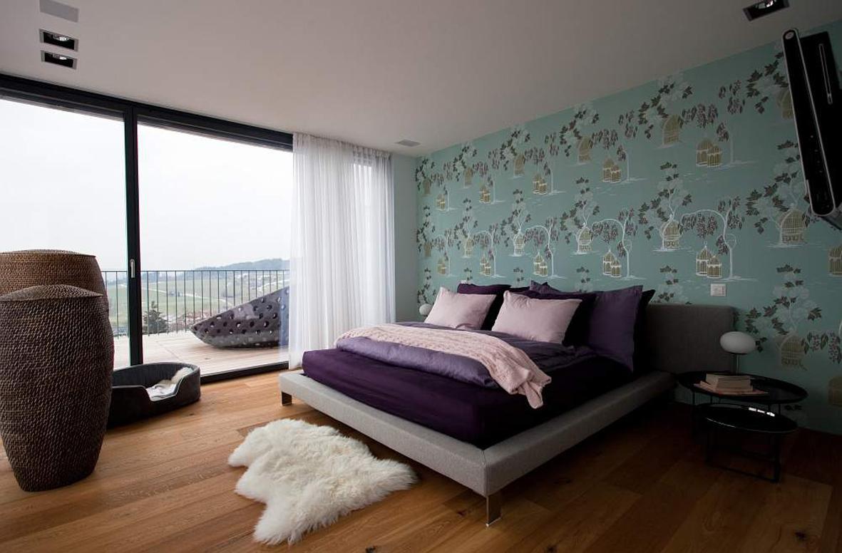 Schlafzimmer, Modern Und Gemütlich #bett #teppich #b