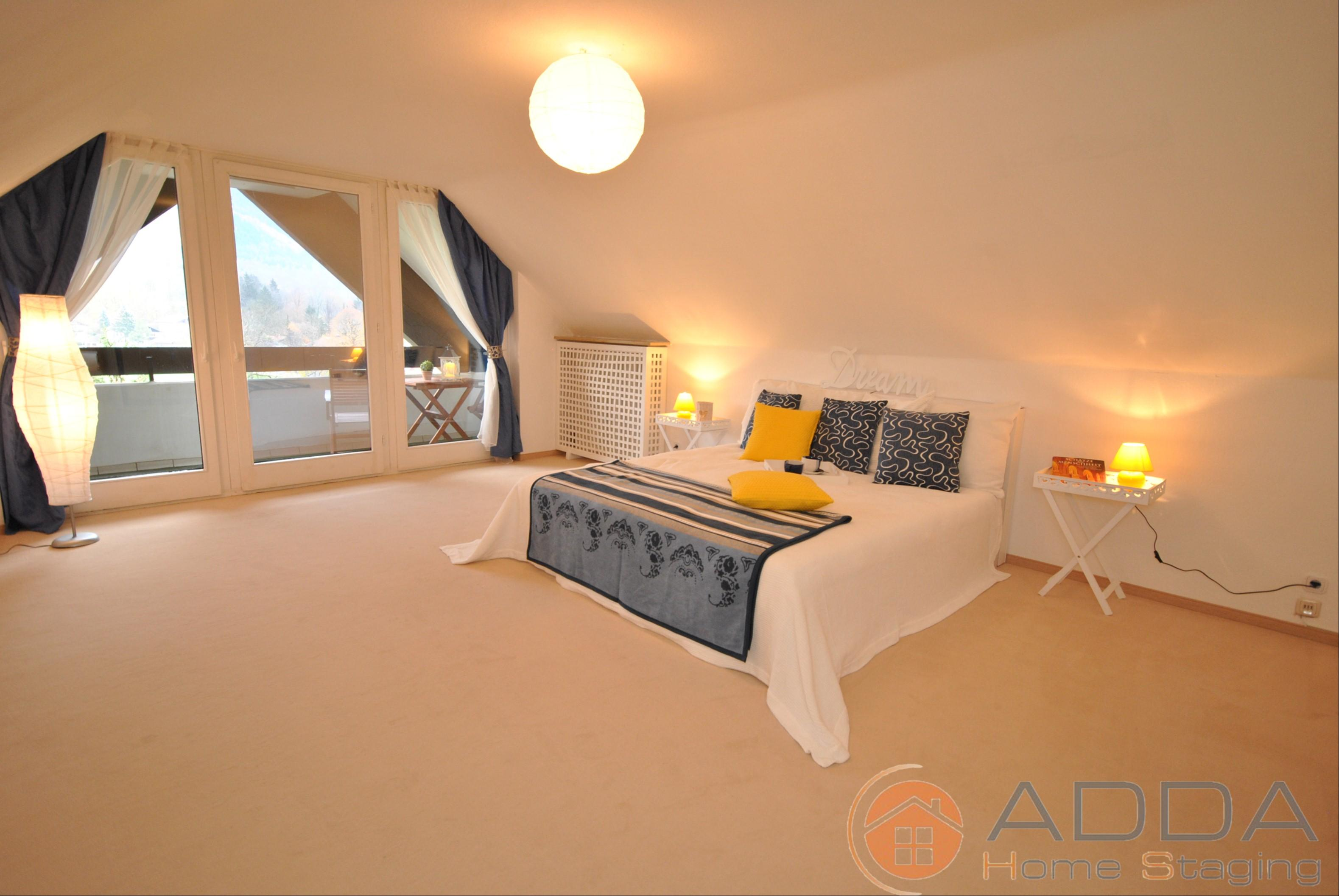 Schlafzimmer nach dem Home Staging #kissen ©ADDA Home Staging