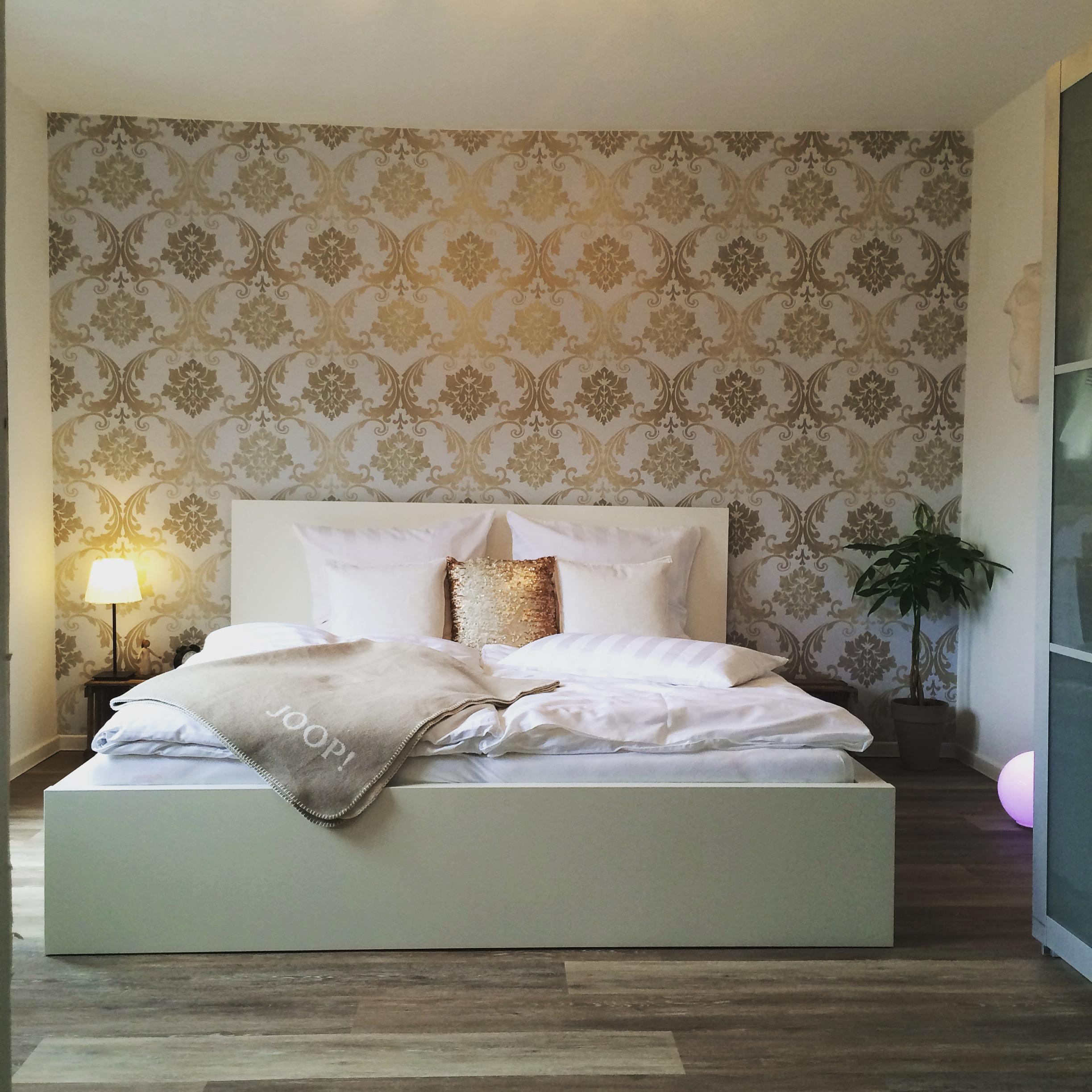 Schlafzimmer #Renovierung #Gold #Weiß #Joop! #Inter