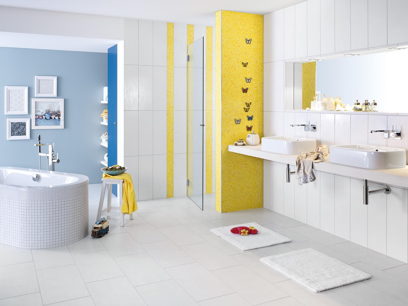 Wandgestaltung im badezimmer  Wandgestaltung für das Badezimmer • Bilder & Ideen •...
