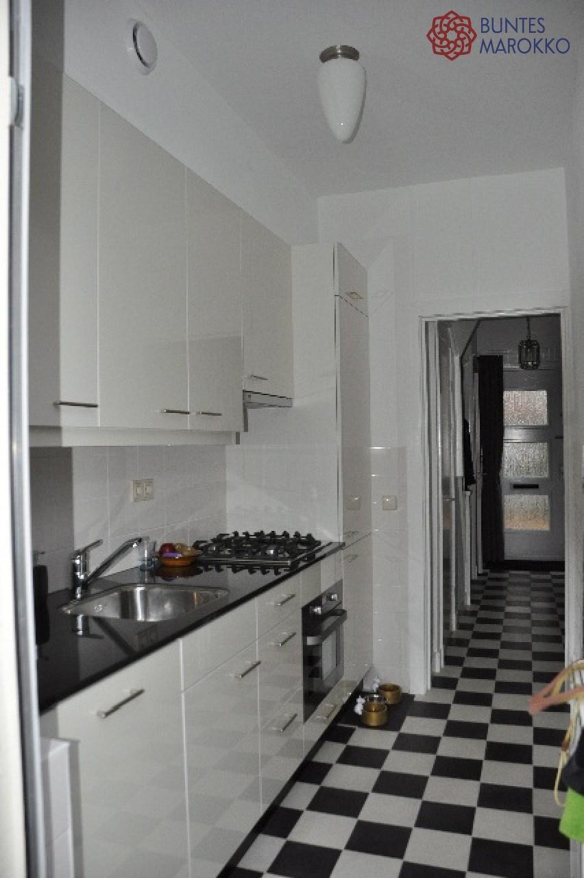 Schöne Zementkacheln In Der Küche #bodenfliesen #küchenfliesen  #zementfliesen ©Buntes Marokko