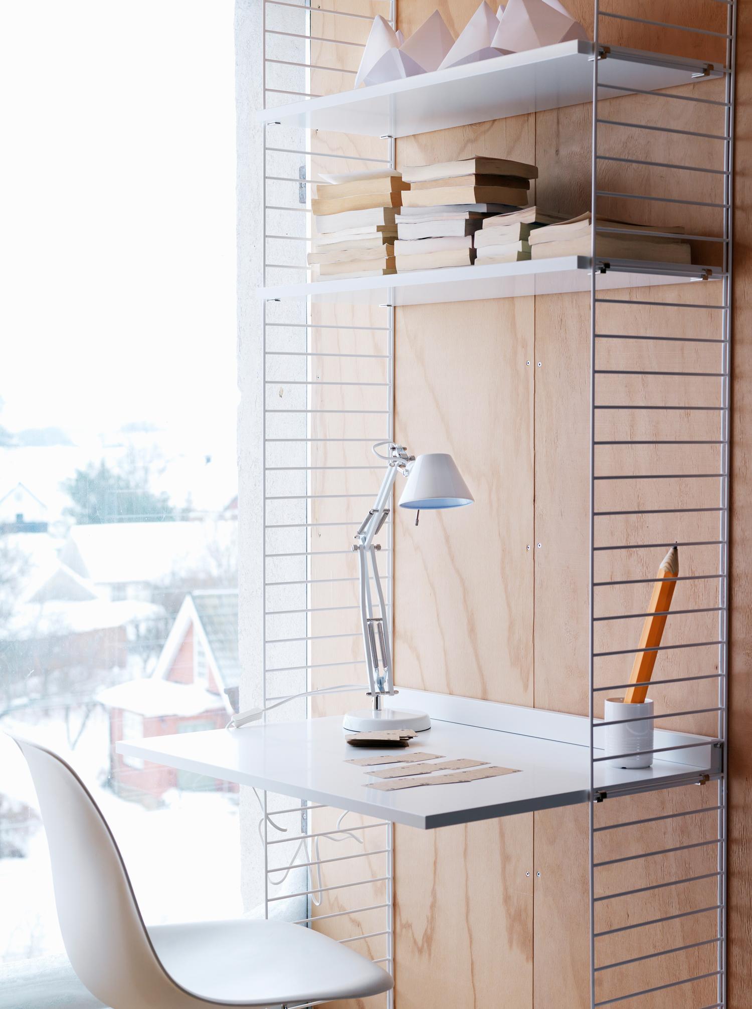 Schreibtisch Integriert In Designer Regalsystem Bur