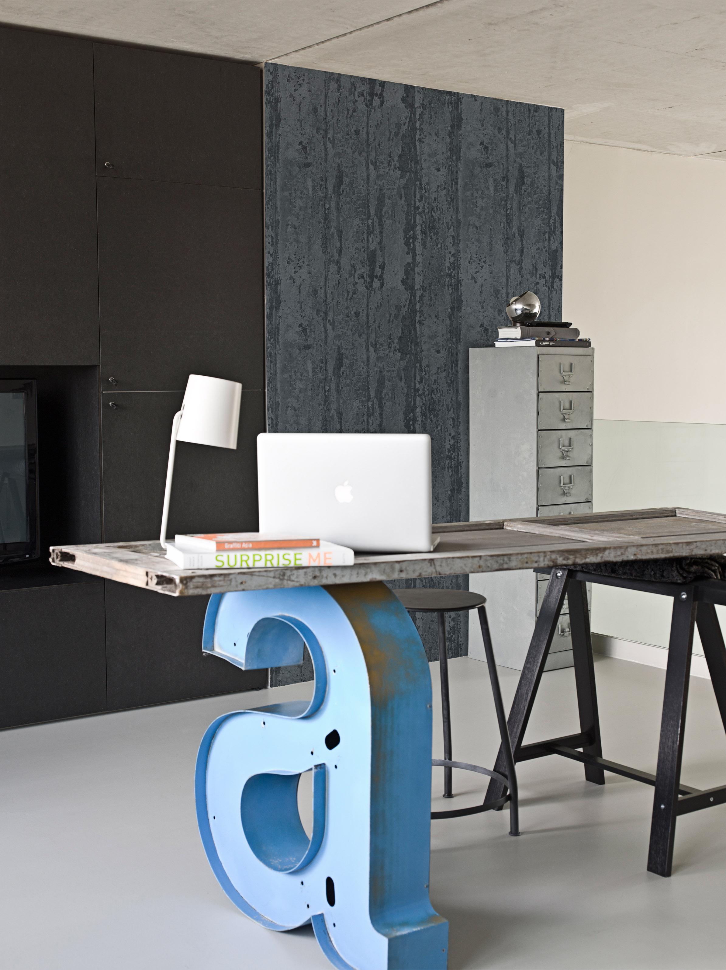 Schreibtisch industriedesign  Schreibtisch mit Dekobuchstabe selbst gestalten #bar... • COUCHstyle