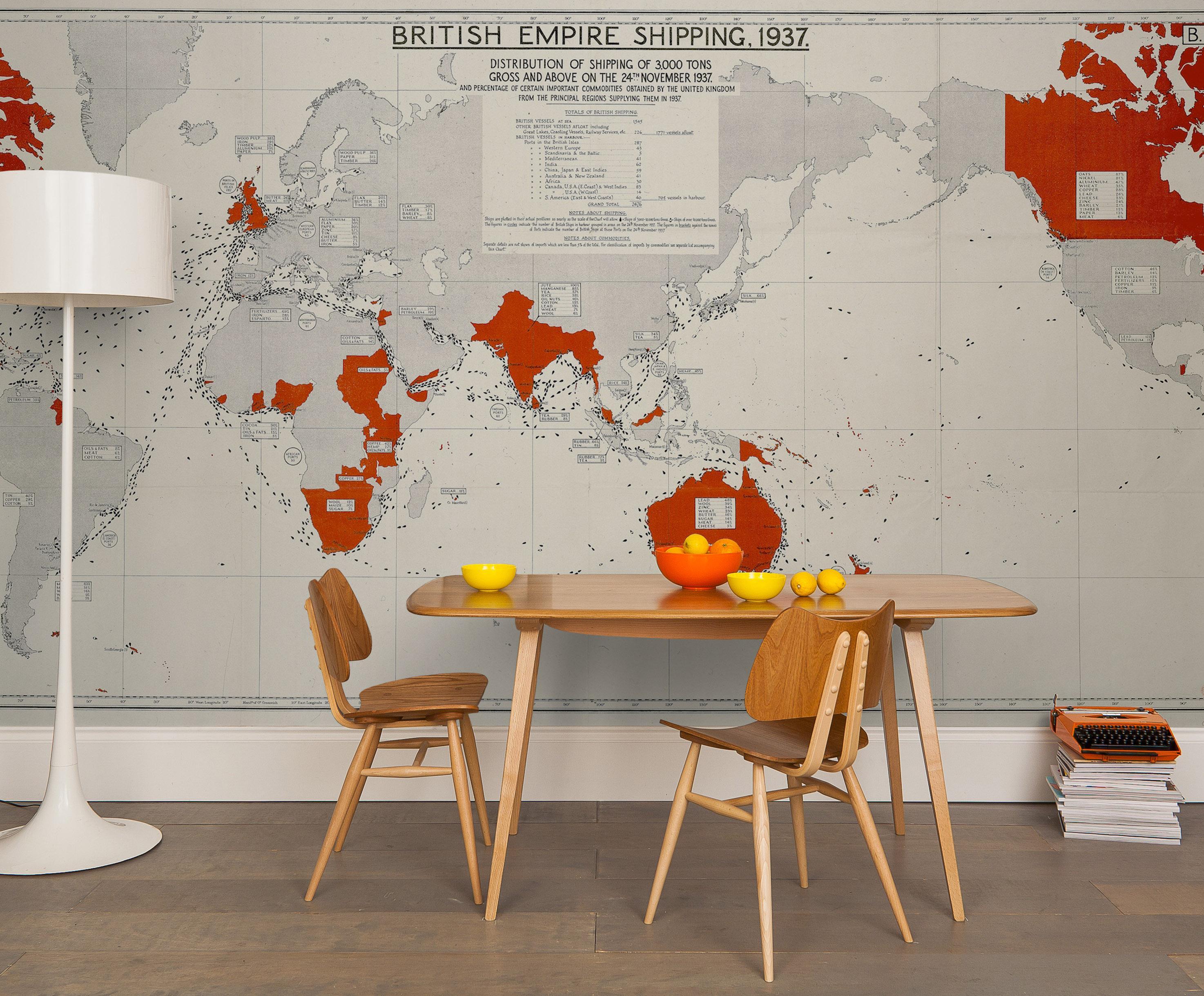 Großartig Stehlampe Esstisch Ideen Von Seekarte Als Wandgestaltung #stuhl #esstisch #wandgestaltung #stehlampe