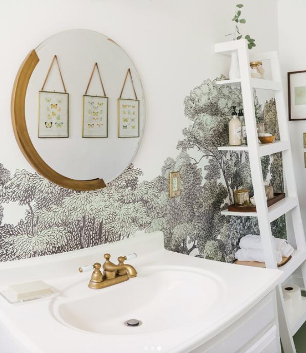 Selbst Das #badezimmer Lässt Sich Mit Tapete Aufpeppen 🙏 🌿  #wandgestaltung #tapete #