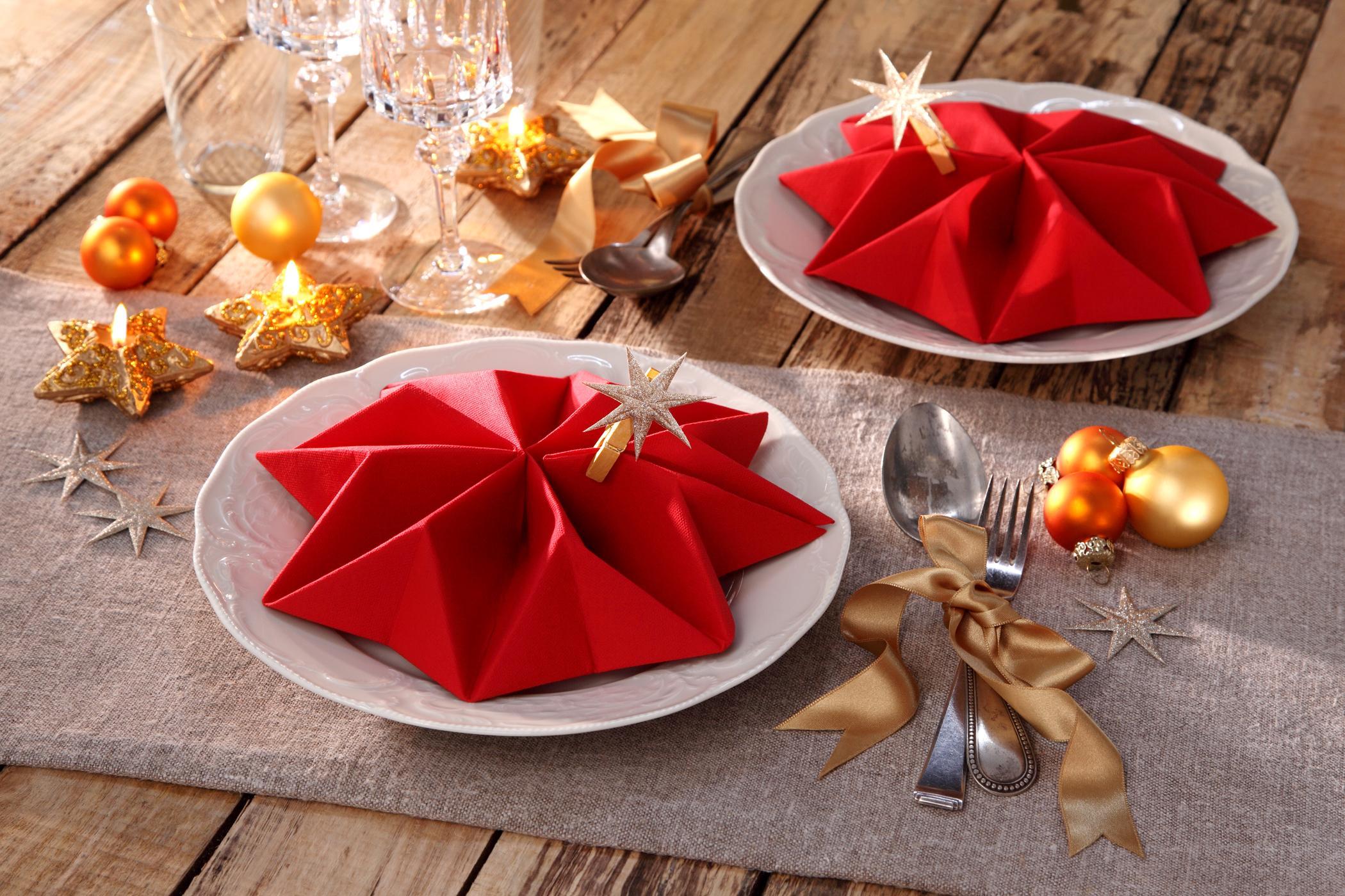 Servietten Falten Für Weihnachten #Tischdeko #Tischd