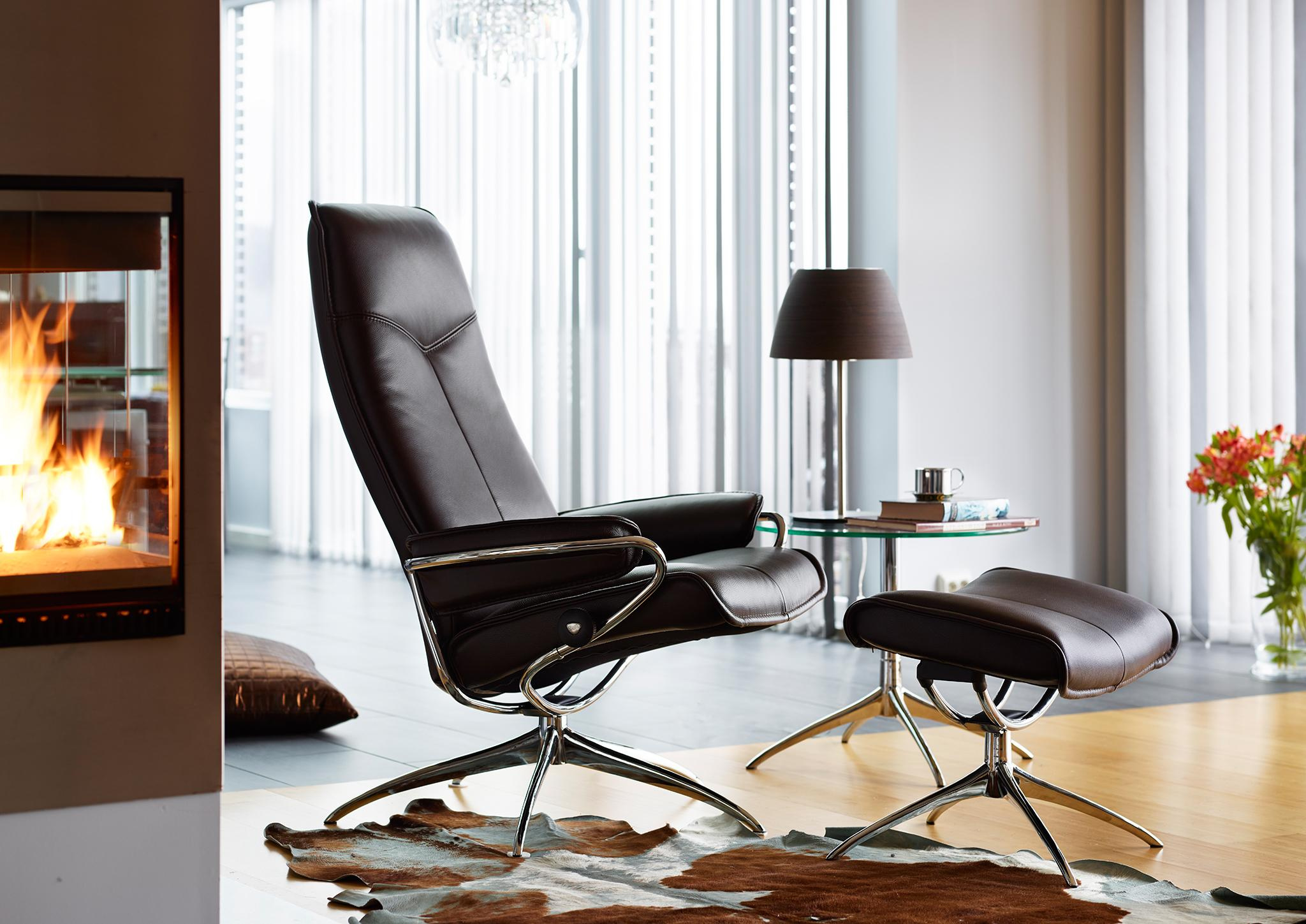 "Sessel ""City High Back"" in Leder ""Cori Brown"" von Stressless #ledersofa #schlafsofa #sofa #relaxsofa #relaxliege ©Stressless, Ekornes ASA"