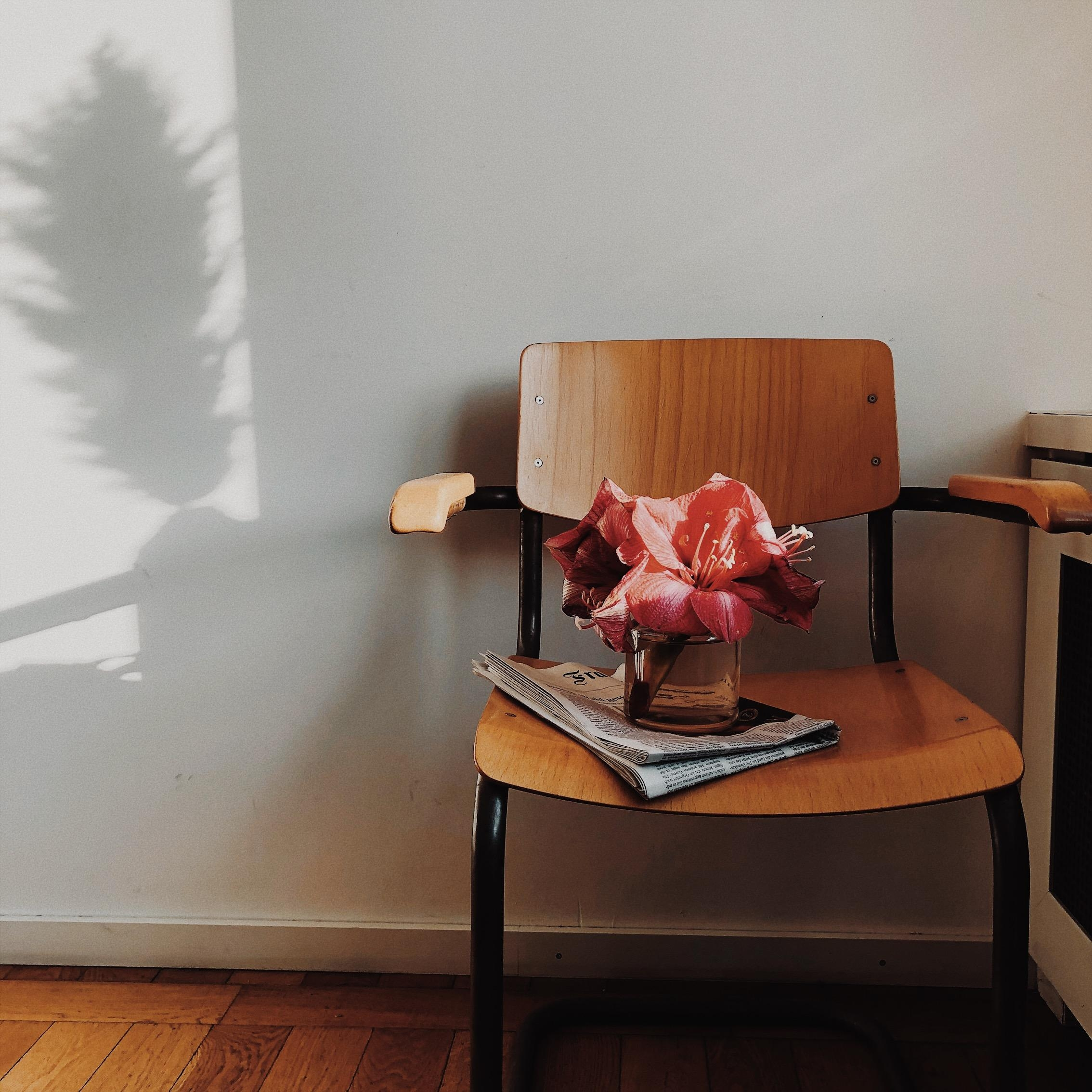 Shadow on the wall #chair #vintage #blumen #interiorinspo #couchstyle #nordicstyle #light #interior